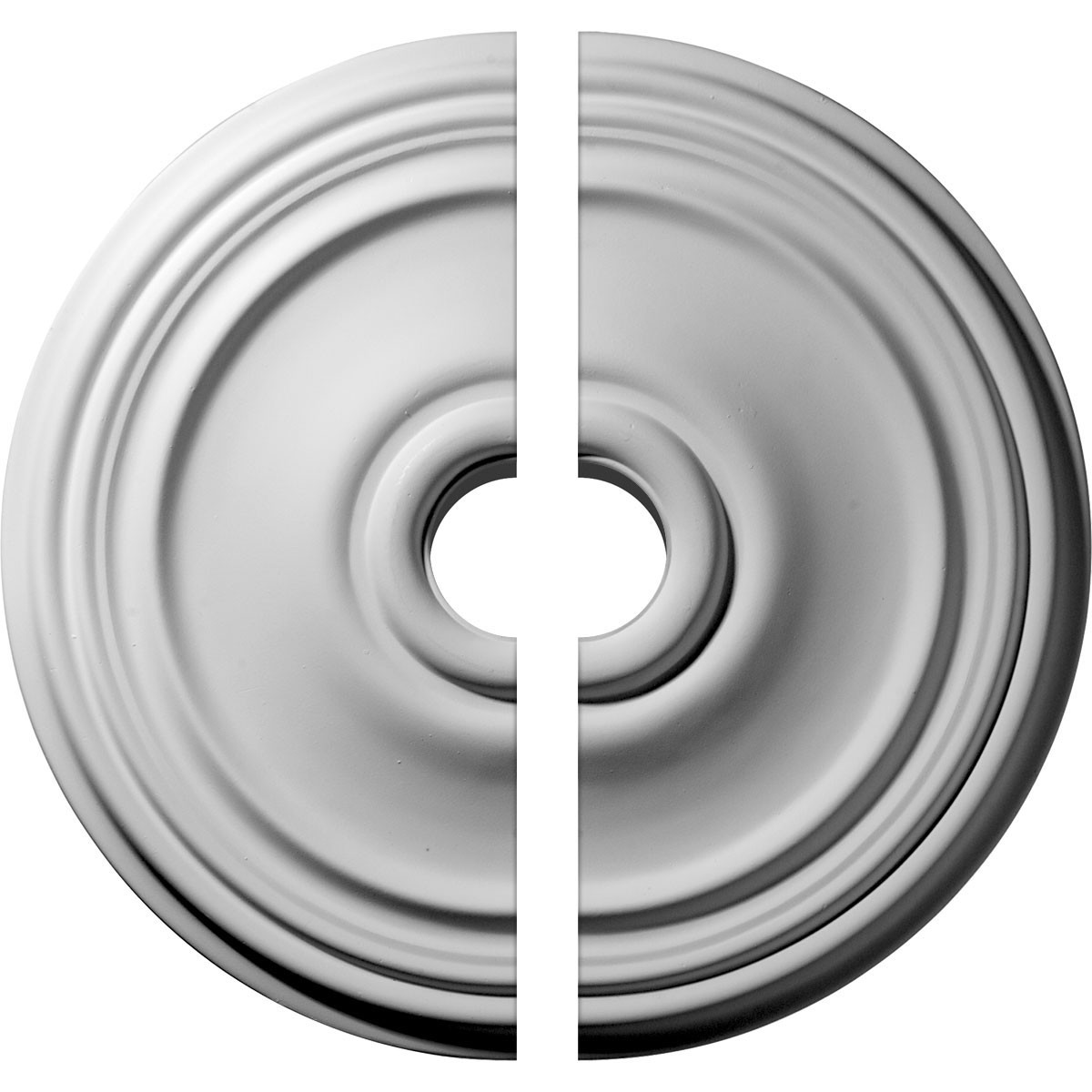 """EM-CM21RE2-03500 - 21""""OD x 3 1/2""""ID x 1 1/4""""P Reece Ceiling Medallion, Two Piece (Fits Canopies up to 6 3/4"""")"""