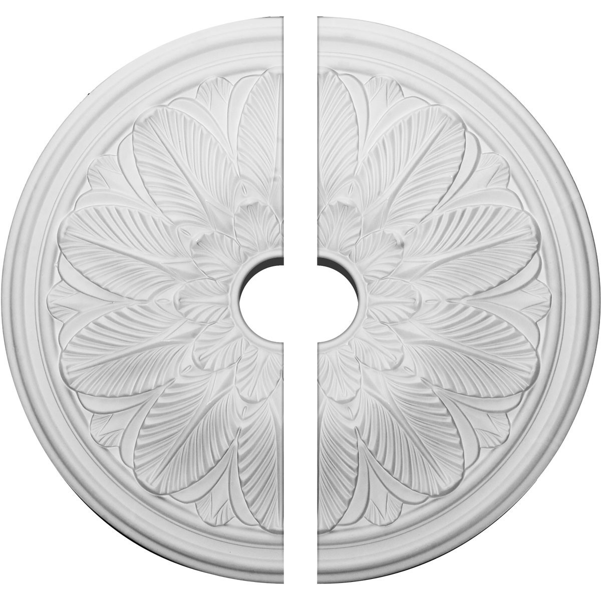 """EM-CM22BO2-03500 - 22 5/8""""OD x 3 1/2""""ID x 1 3/4""""P Bordeaux Ceiling Medallion, Two Piece (Fits Canopies up to 3 1/2"""")"""