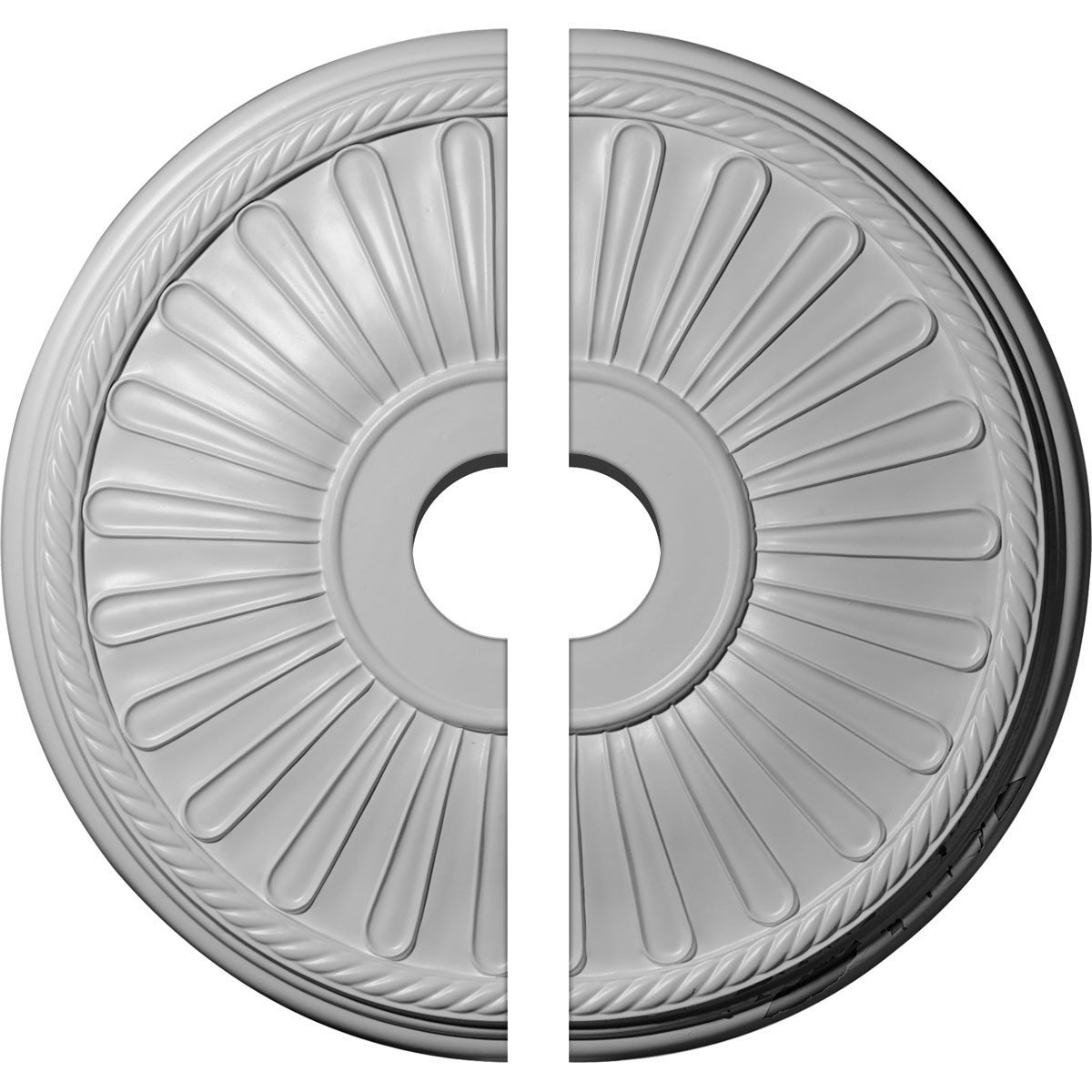 """EM-CM22LN2-03500 - 19 7/8""""OD x 3 1/2""""ID x 1 1/4""""P Leandros Ceiling Medallion, Two Piece (Fits Canopies up to 6 3/8"""")"""