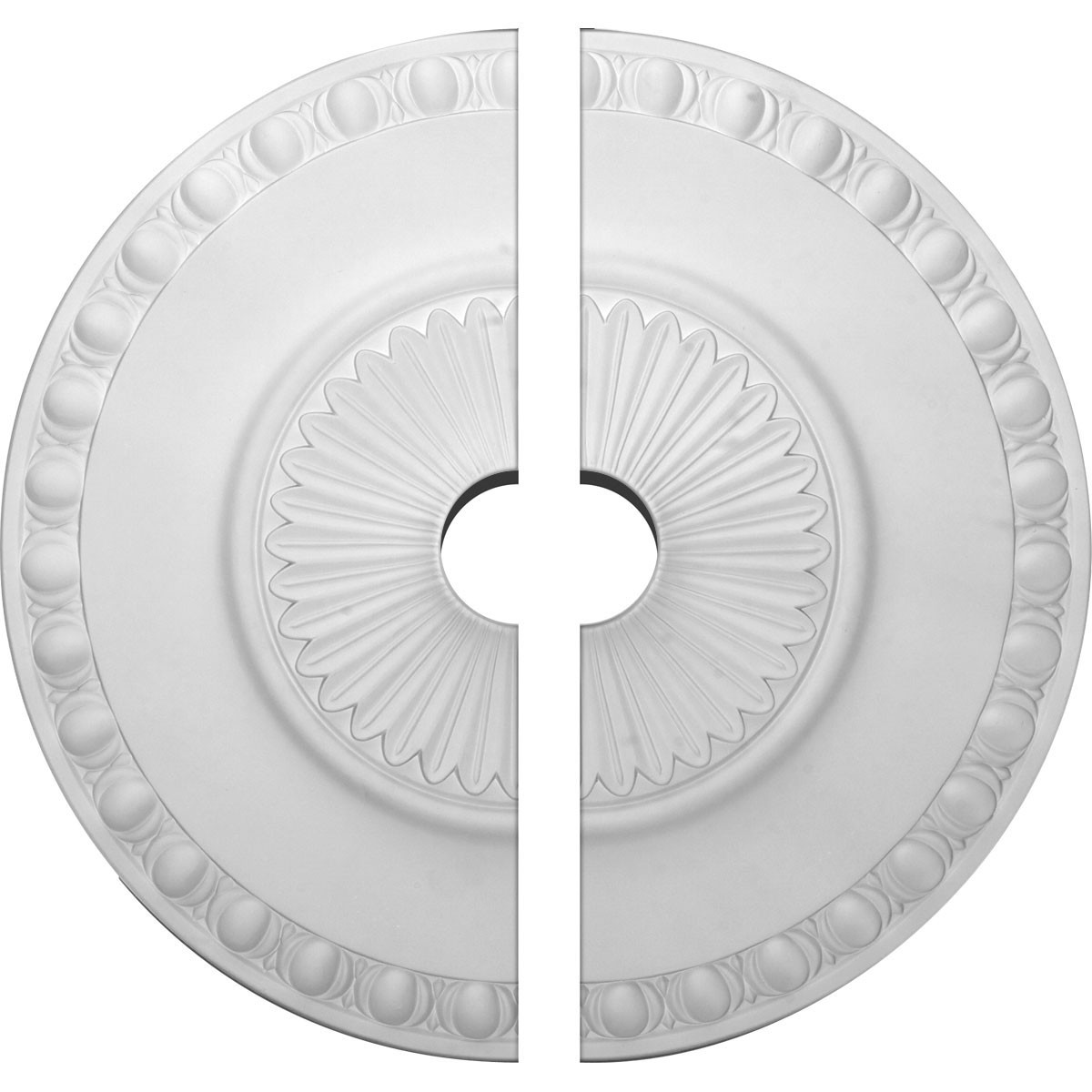 """EM-CM23LY2-03500 - 23 1/2""""OD x 3 1/2""""ID x 3 1/4""""P Lyon Ceiling Medallion, Two Piece (Fits Canopies up to 3 5/8"""")"""