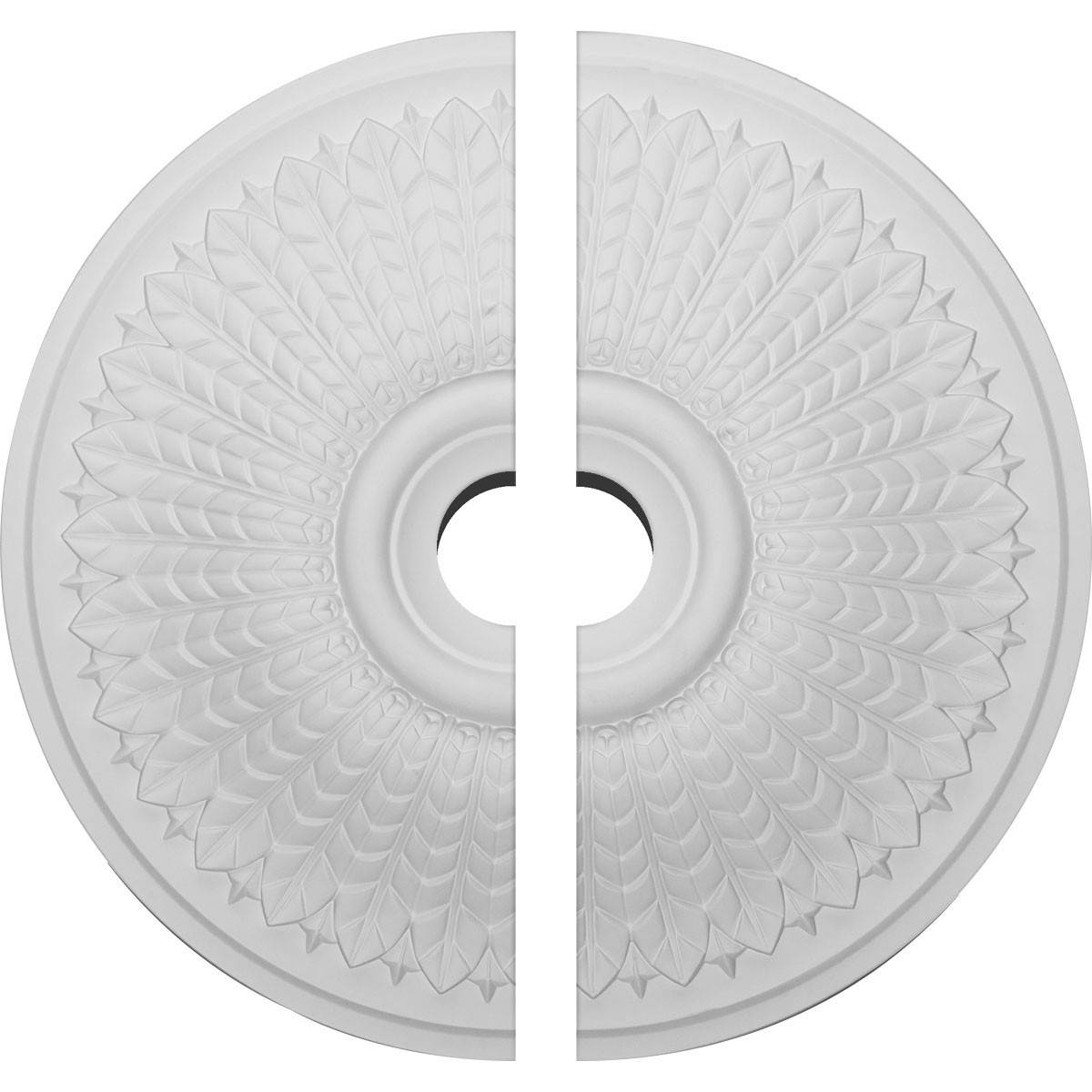 """EM-CM23MO2-03500 - 23 1/2""""OD x 3 1/2""""ID x 3 1/2""""P Modena Ceiling Medallion, Two Piece (Fits Canopies up to 5 1/4"""")"""