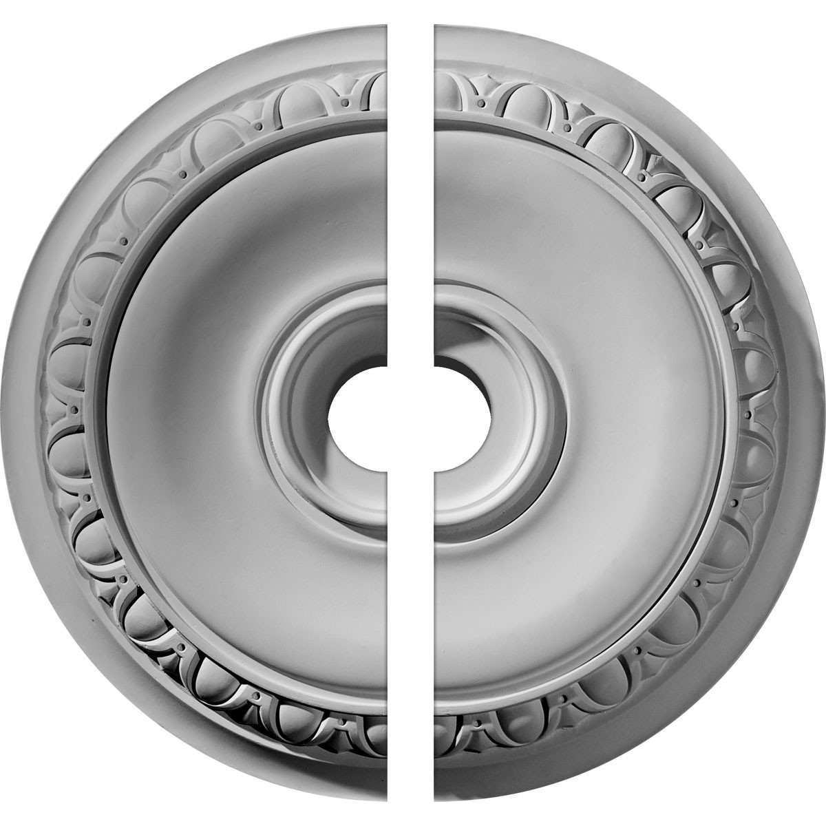 """EM-CM24CA2-03500 - 24 1/4""""OD x 3 1/2""""ID x 1 1/2""""P Caputo Ceiling Medallion, Two Piece (Fits Canopies up to 6"""")"""