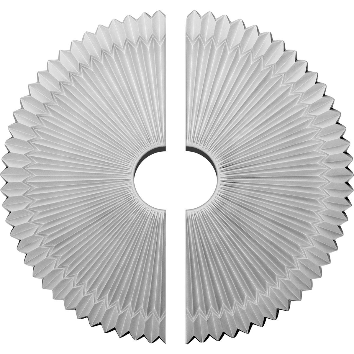 """EM-CM24SH2-04500 - 24""""OD x 4 1/2""""ID x 3""""P Shakuras Ceiling Medallion, Two Piece (Fits Canopies up to 5"""")"""
