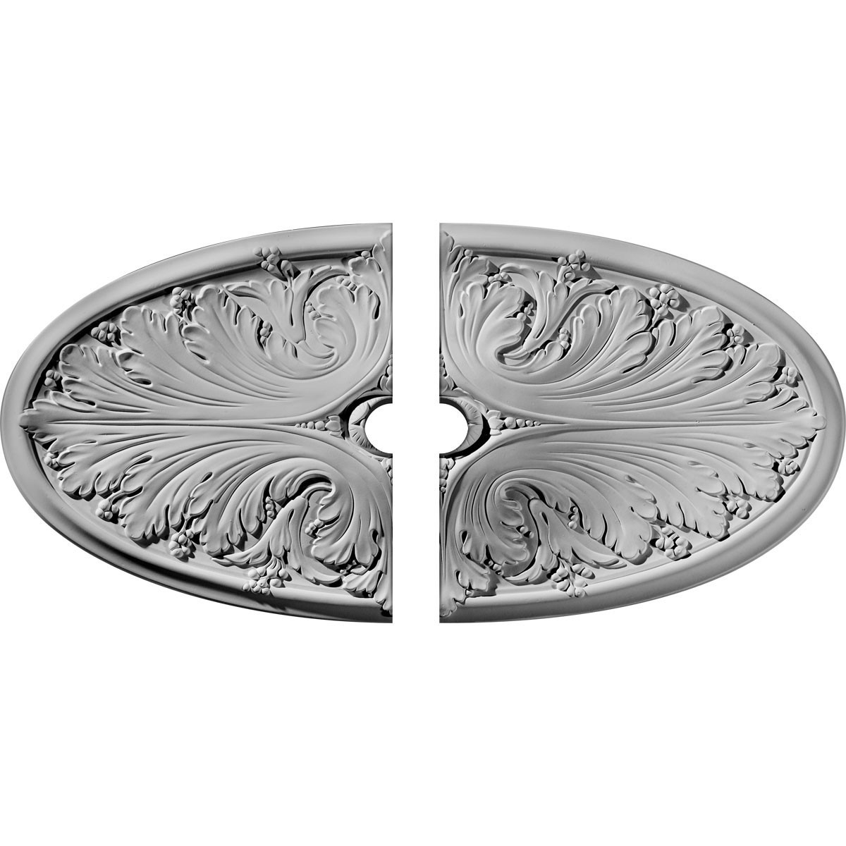 """EM-CM24X12MA2-03500 - 24 3/4""""W x 12 1/2""""H x 3 1/2""""ID x 1 3/4""""P Madrid Ceiling Medallion, Two Piece (Fits Canopies up to 3 1/2"""")"""