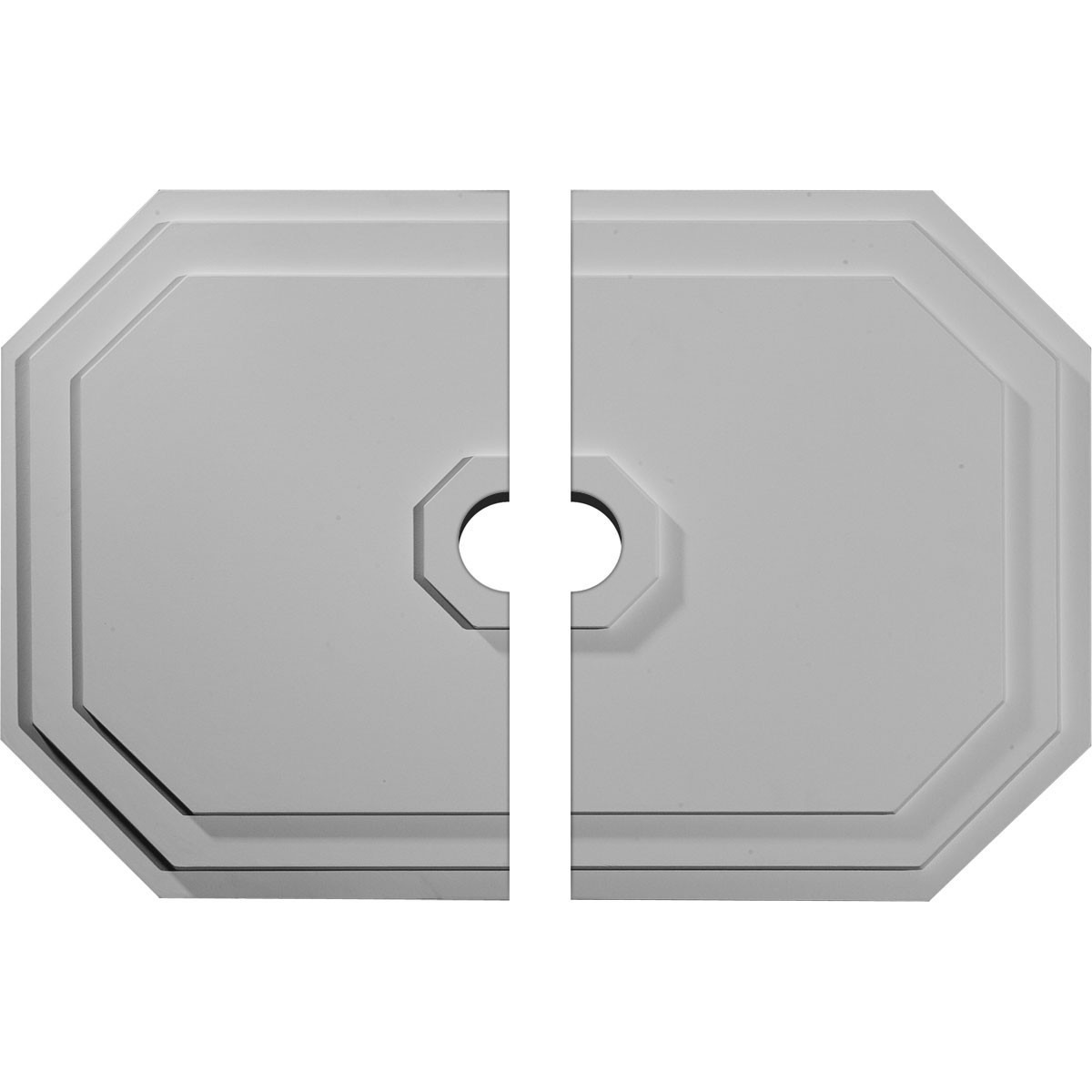 """EM-CM25FE2-03500 - 25 1/4""""W x 17 1/4""""H x 3 1/2""""ID x 1 3/4""""P Felix Ceiling Medallion, Two Piece (Fits Canopies up to 3 1/2"""")"""