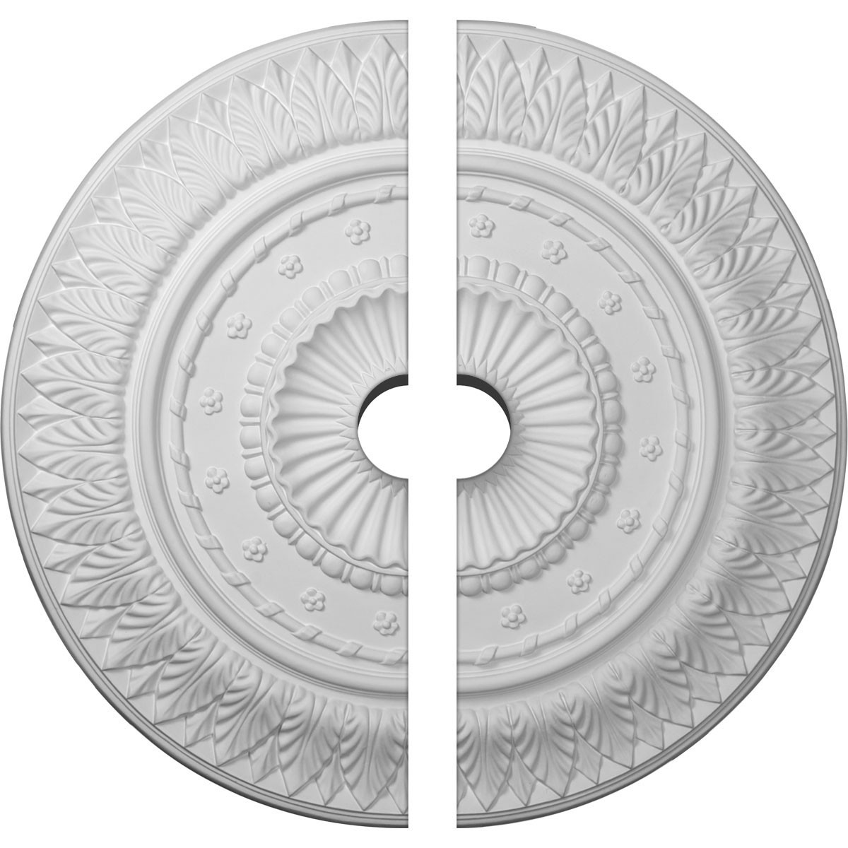 """EM-CM26CS2-03500 - 26 5/8""""OD x 3 1/2""""ID x 2 1/4""""P Christopher Ceiling Medallion, Two Piece (Fits Canopies up to 3 1/2"""")"""