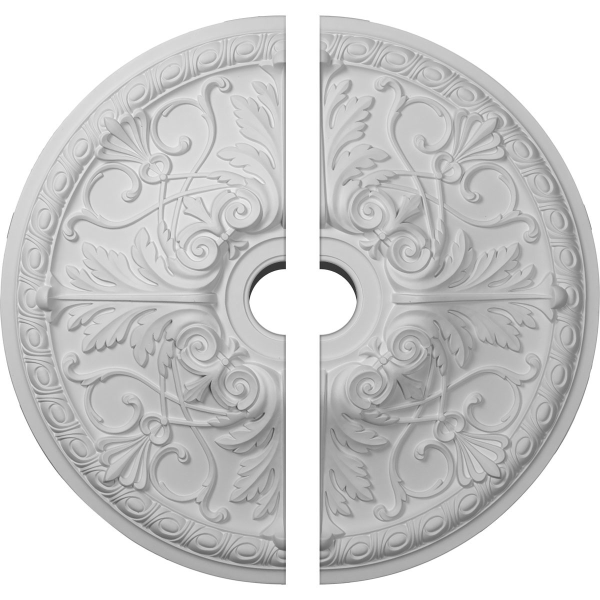 """EM-CM26TN2-03500 - 26""""OD x 3 1/2""""ID x 3""""P Tristan Ceiling Medallion, Two Piece (Fits Canopies up to 5 1/2"""")"""