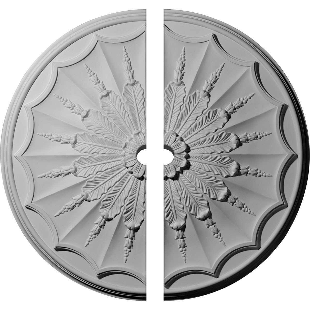 """EM-CM27AR2-02000 - 27 1/8""""OD x 2""""ID x 2 5/8""""P Artis Ceiling Medallion, Two Piece (Fits Canopies up to 2"""")"""