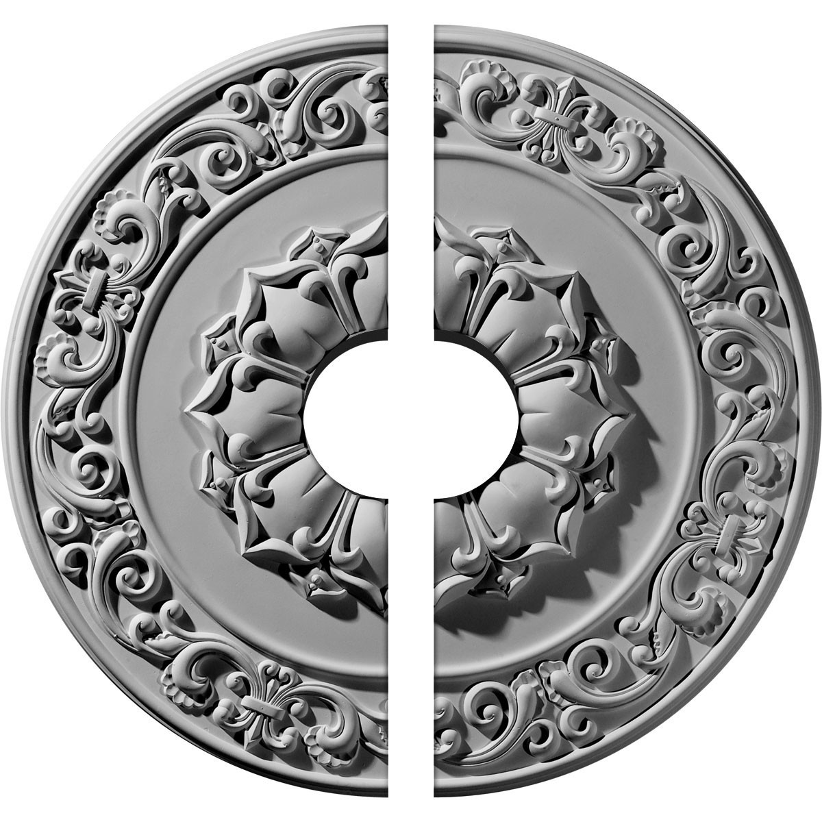 """EM-CM27SY2-06000 - 27 3/4""""OD x 6""""ID x 2""""P Sydney Ceiling Medallion, Two Piece (Fits Canopies up to 6"""")"""