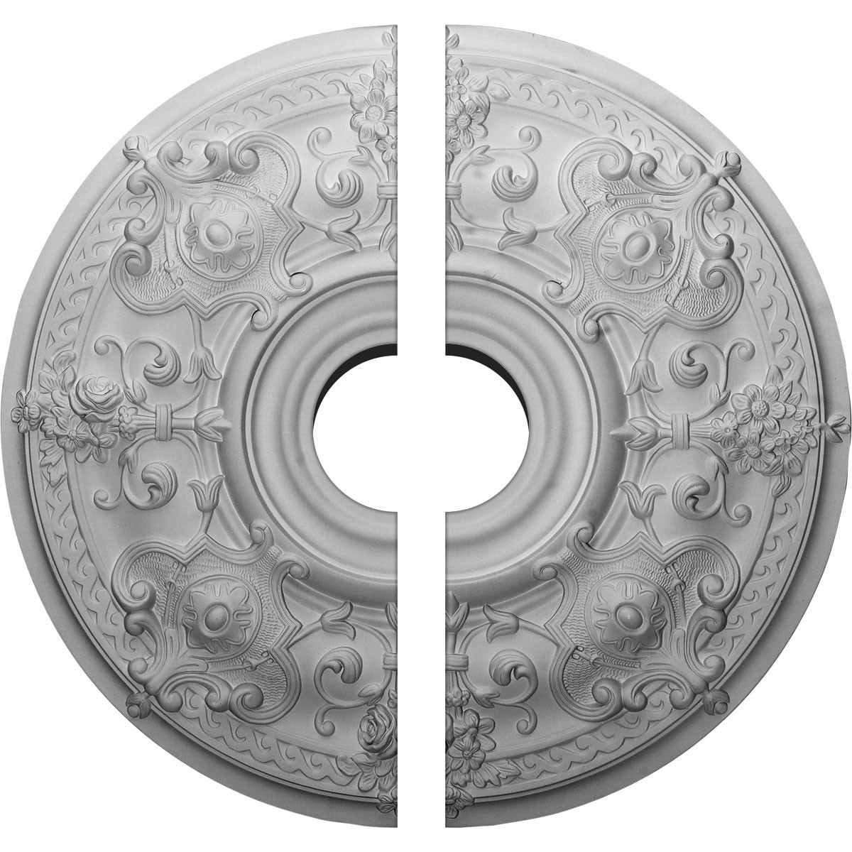 """EM-CM28OS2-06000 - 28 1/8""""OD x 6""""ID x 1 3/4""""P Oslo Ceiling Medallion, Two Piece (Fits Canopies up to 10 1/2"""")"""