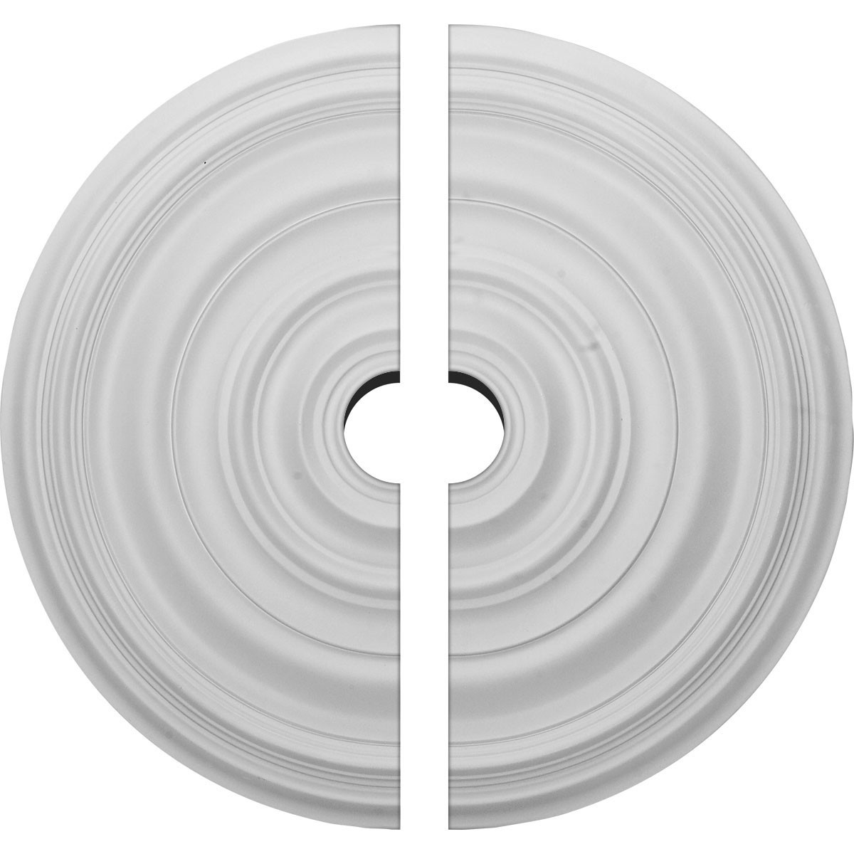 """EM-CM29CA2-04000 - 29 1/8""""OD x 4""""ID x 1 1/2""""P Carton Smooth Ceiling Medallion, Two Piece (Fits Canopies up to 9 1/8"""")"""