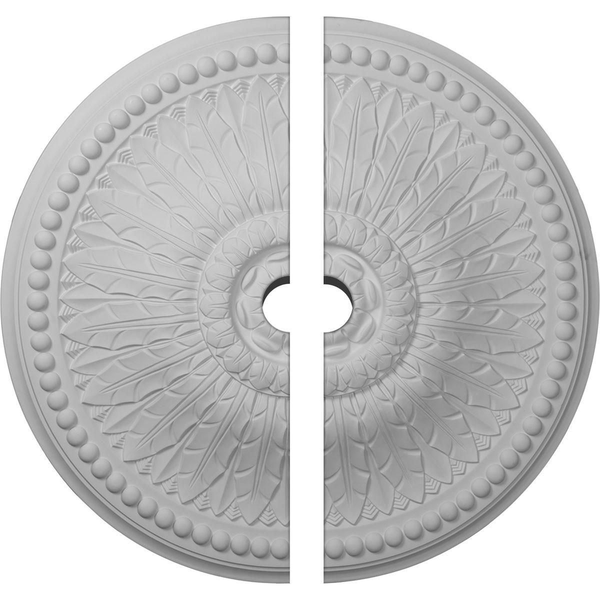 """EM-CM29SP2-03000 - 29 3/8""""OD x 3""""ID x 2 7/8""""P Springtime Ceiling Medallion, Two Piece (Fits Canopies up to 3"""")"""
