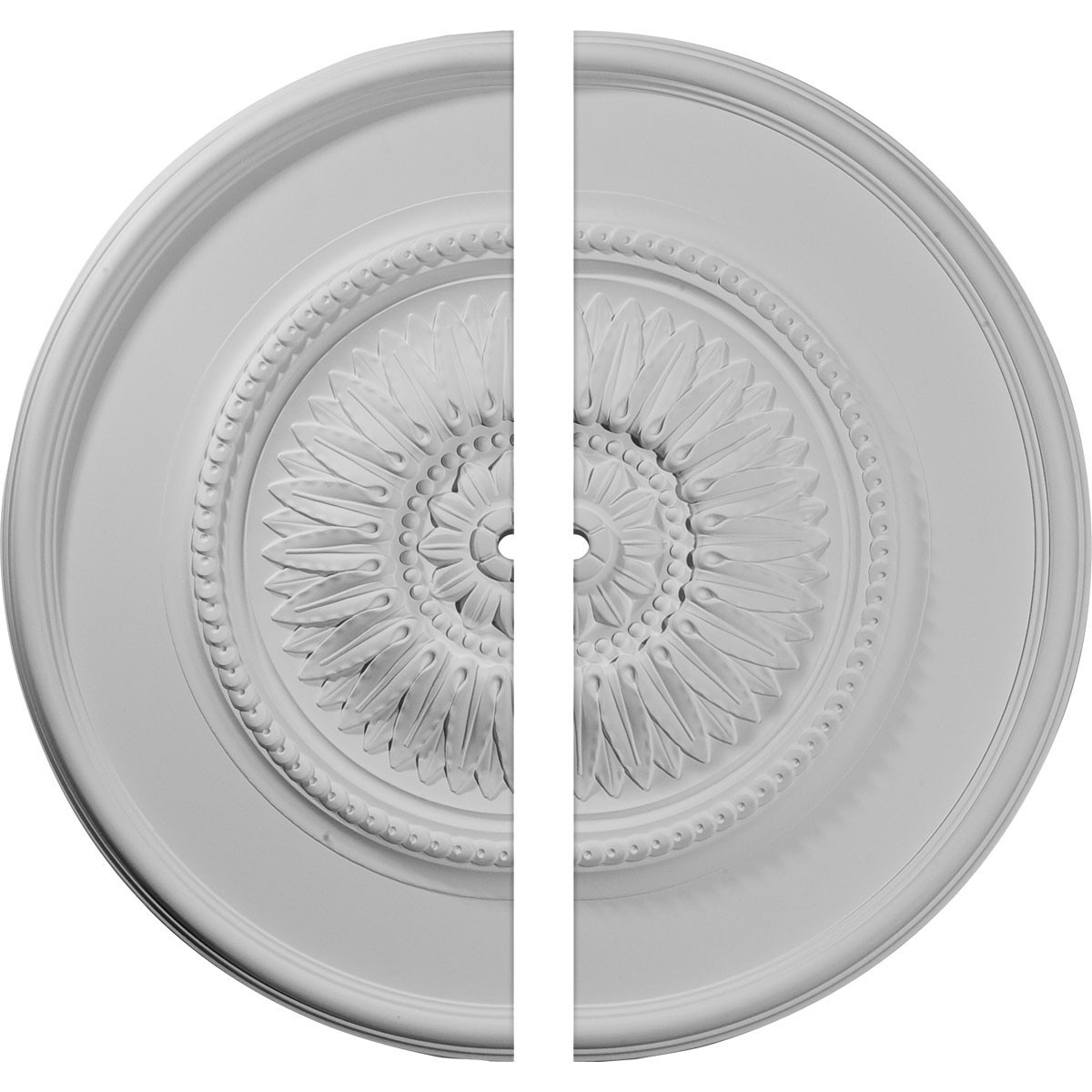 """EM-CM29WG2-01000 - 29 3/4""""OD x 1""""ID x 1 1/2""""P Wigan Ceiling Medallion, Two Piece (Fits Canopies up to 1"""")"""