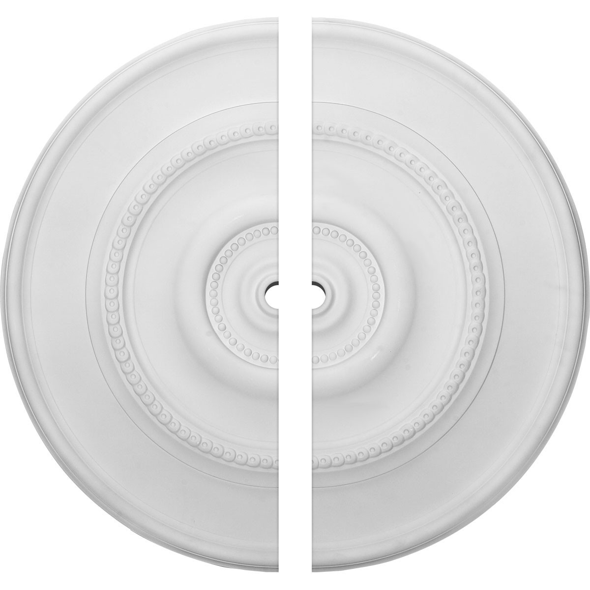 """EM-CM30DY2-01500 - 30""""OD x 1 1/2""""ID x 2 1/4""""P Dylar Ceiling Medallion, Two Piece (Fits Canopies up to 6 1/4"""")"""