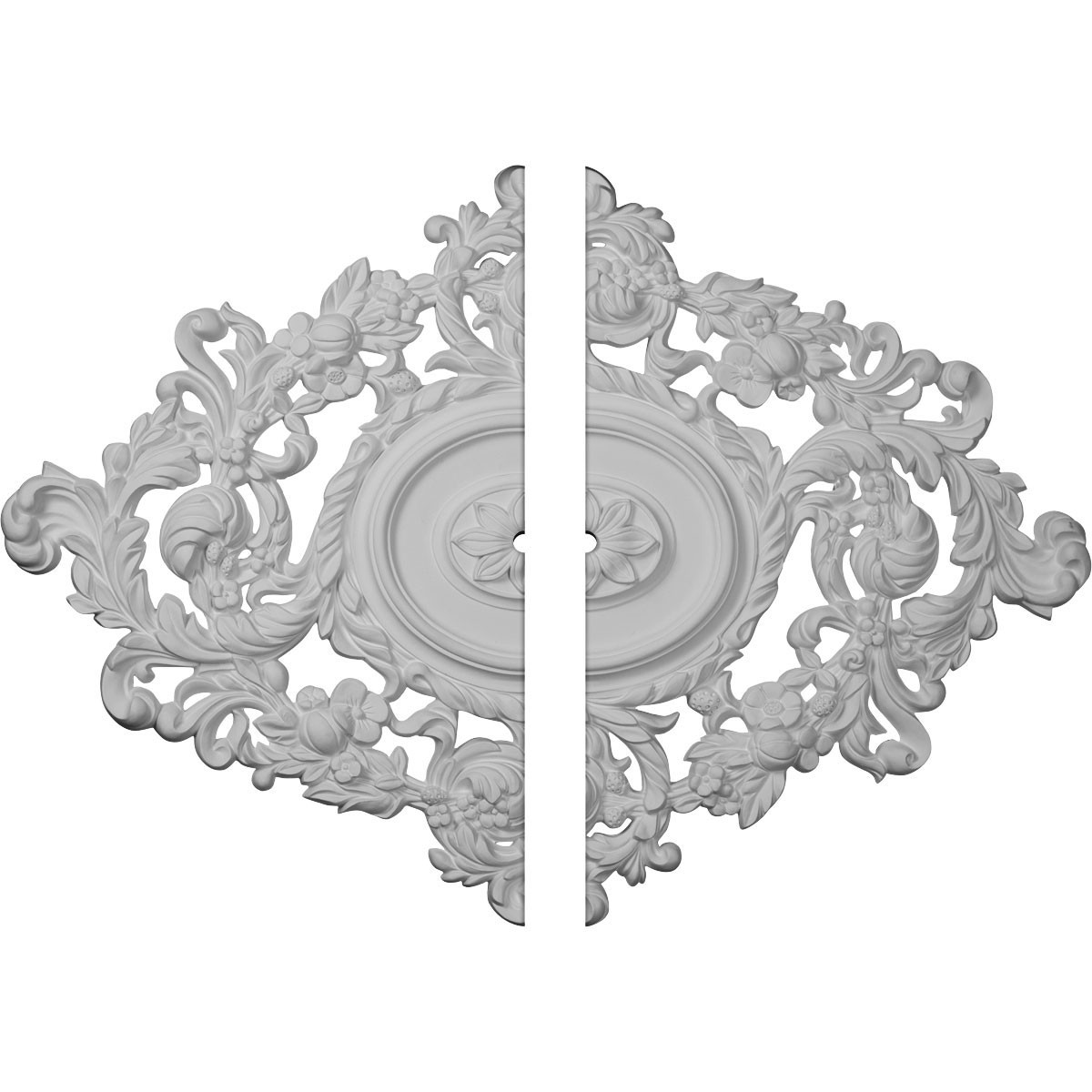 """EM-CM30KT2-01000 - 22 1/2""""W x 30 3/8""""H x 1""""ID x 1 1/2""""P Katheryn Ceiling Medallion, Two Piece (Fits Canopies up to 1"""")"""