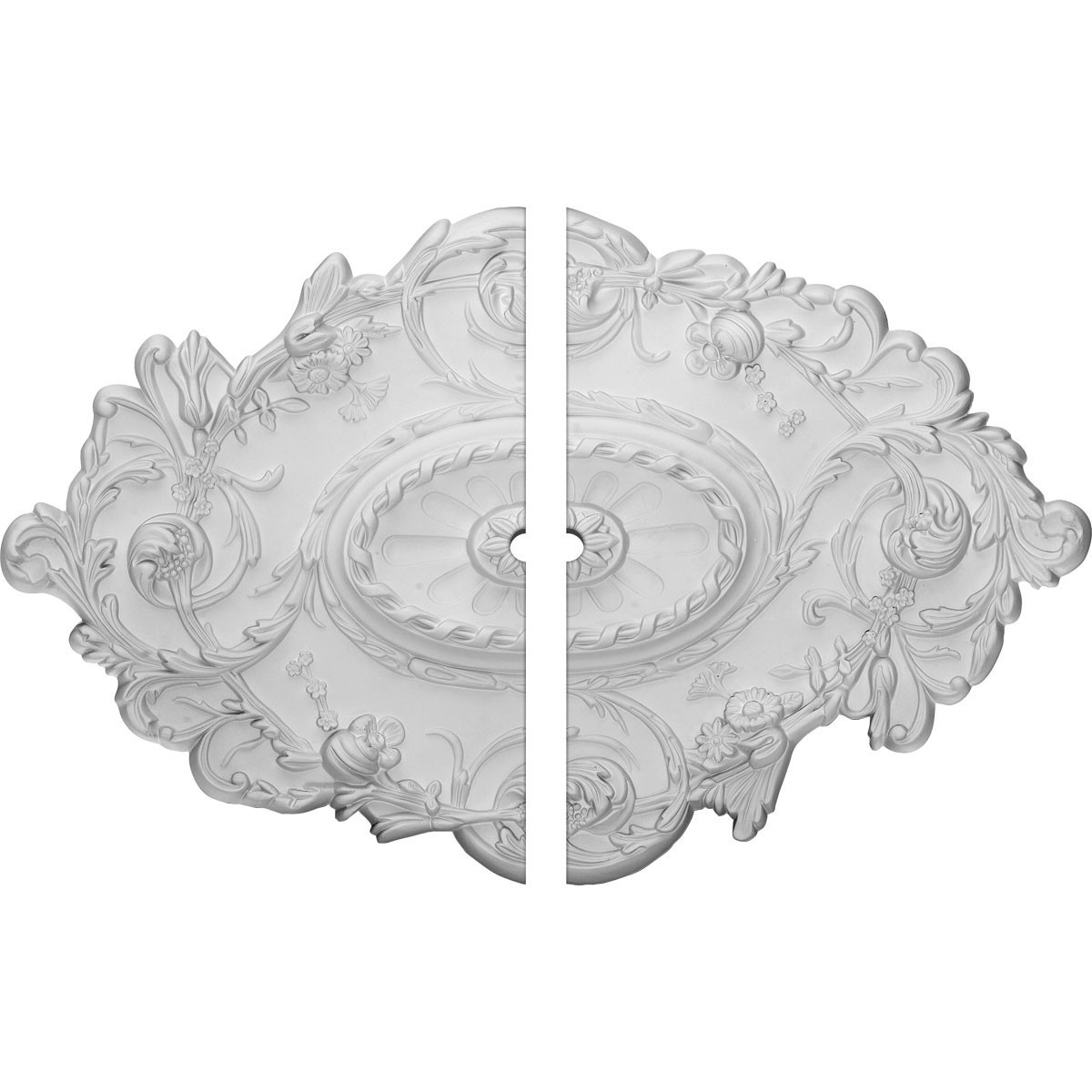 """EM-CM30SG2-01500 - 30 1/2""""W x 20""""H x 1 1/2""""ID x 1 1/2""""P Strasbourg Ceiling Medallion, Two Piece (Fits Canopies up to 1 1/2"""")"""
