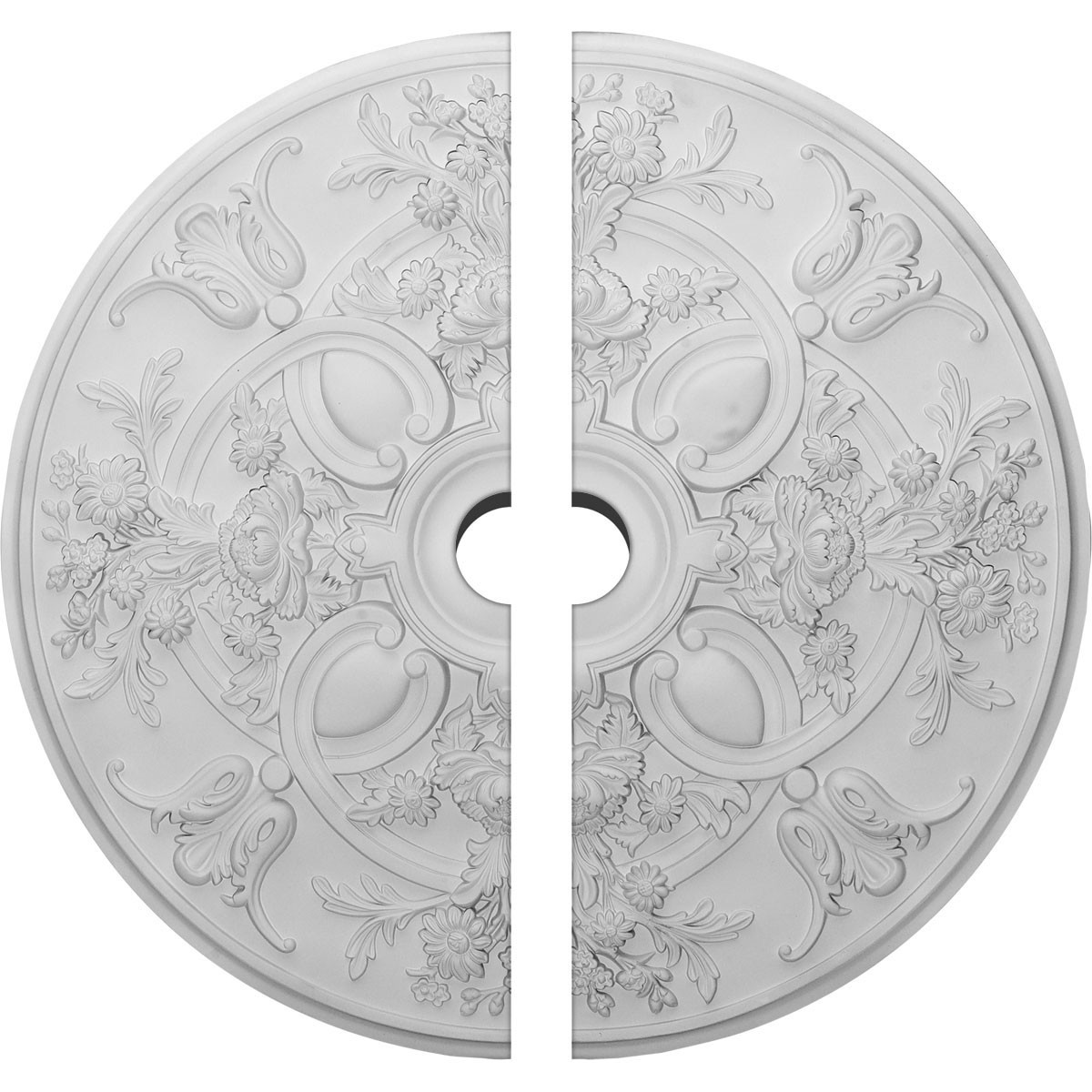 """EM-CM31BA2-03500 - 31 1/4""""OD x 3 1/2""""ID x 2 1/4""""P Baile Ceiling Medallion, Two Piece (Fits Canopies up to 6"""")"""