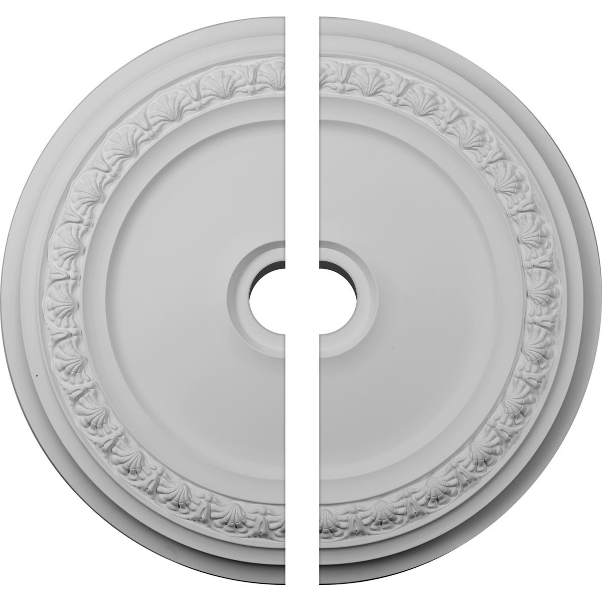 """EM-CM31CA2-04000 - 31 1/8""""OD x 4""""ID x 1 1/2""""P Carlsbad Ceiling Medallion, Two Piece (Fits Canopies up to 5 1/2"""")"""