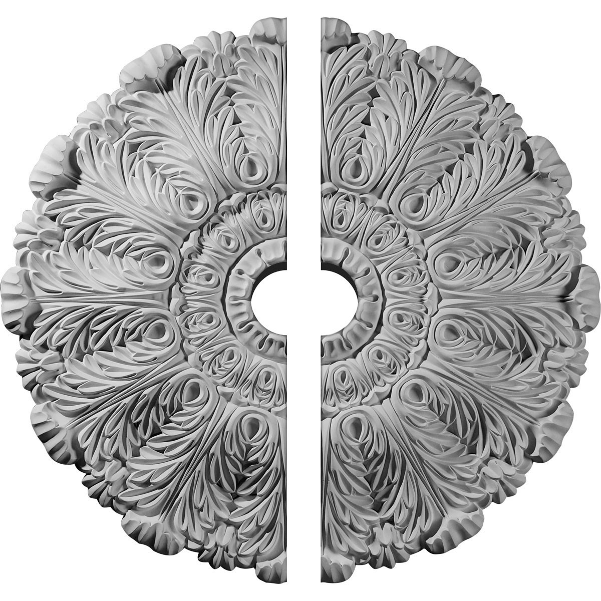 """EM-CM31DU2-04000 - 31""""OD x 4""""ID x 1 1/2""""P Durham Ceiling Medallion, Two Piece (Fits Canopies up to 4 1/4"""")"""