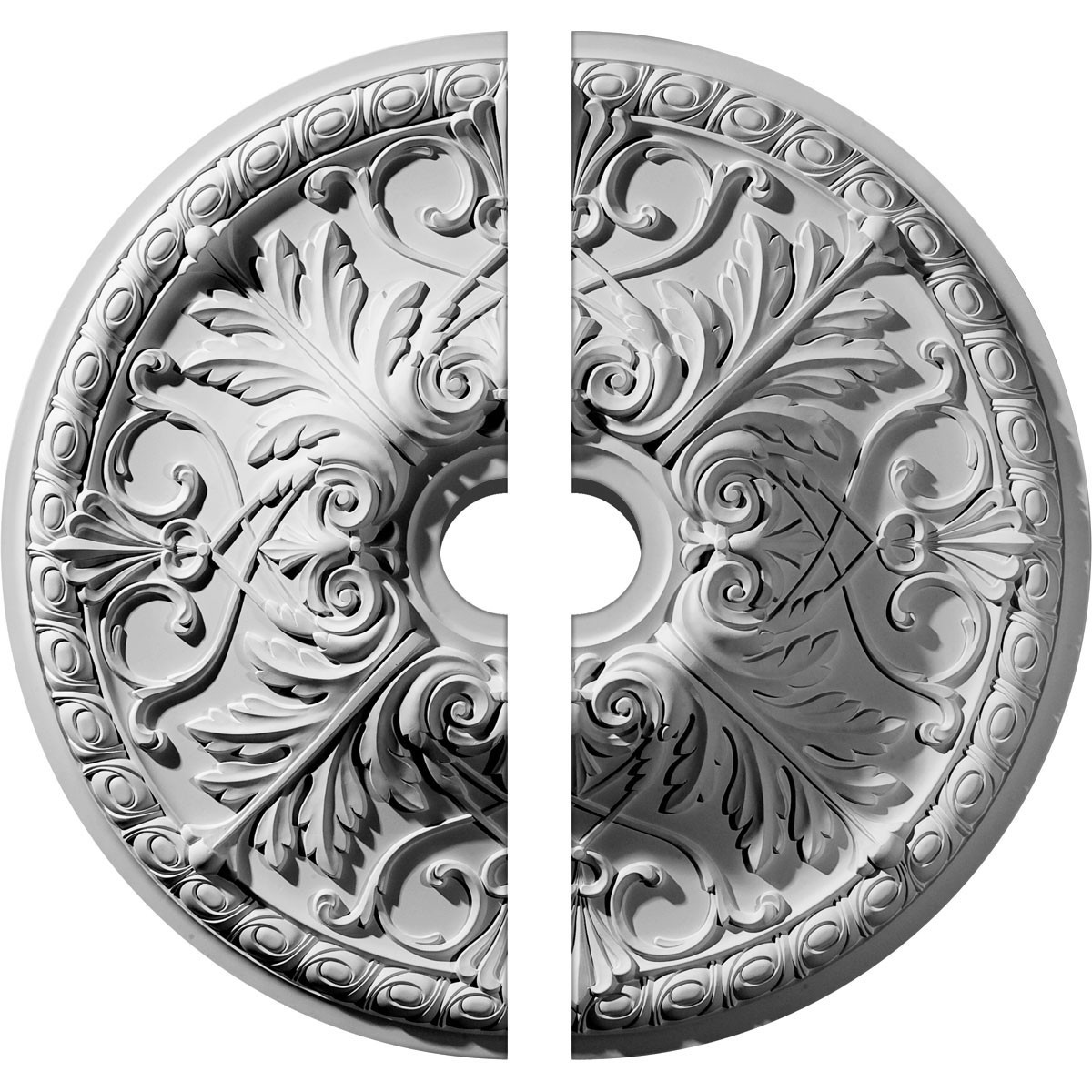 """EM-CM32TN2-05500 - 32 3/8""""OD x 5 1/2""""ID x 3 1/2""""P Tristan Ceiling Medallion, Two Piece (Fits Canopies up to 6 1/4"""")"""