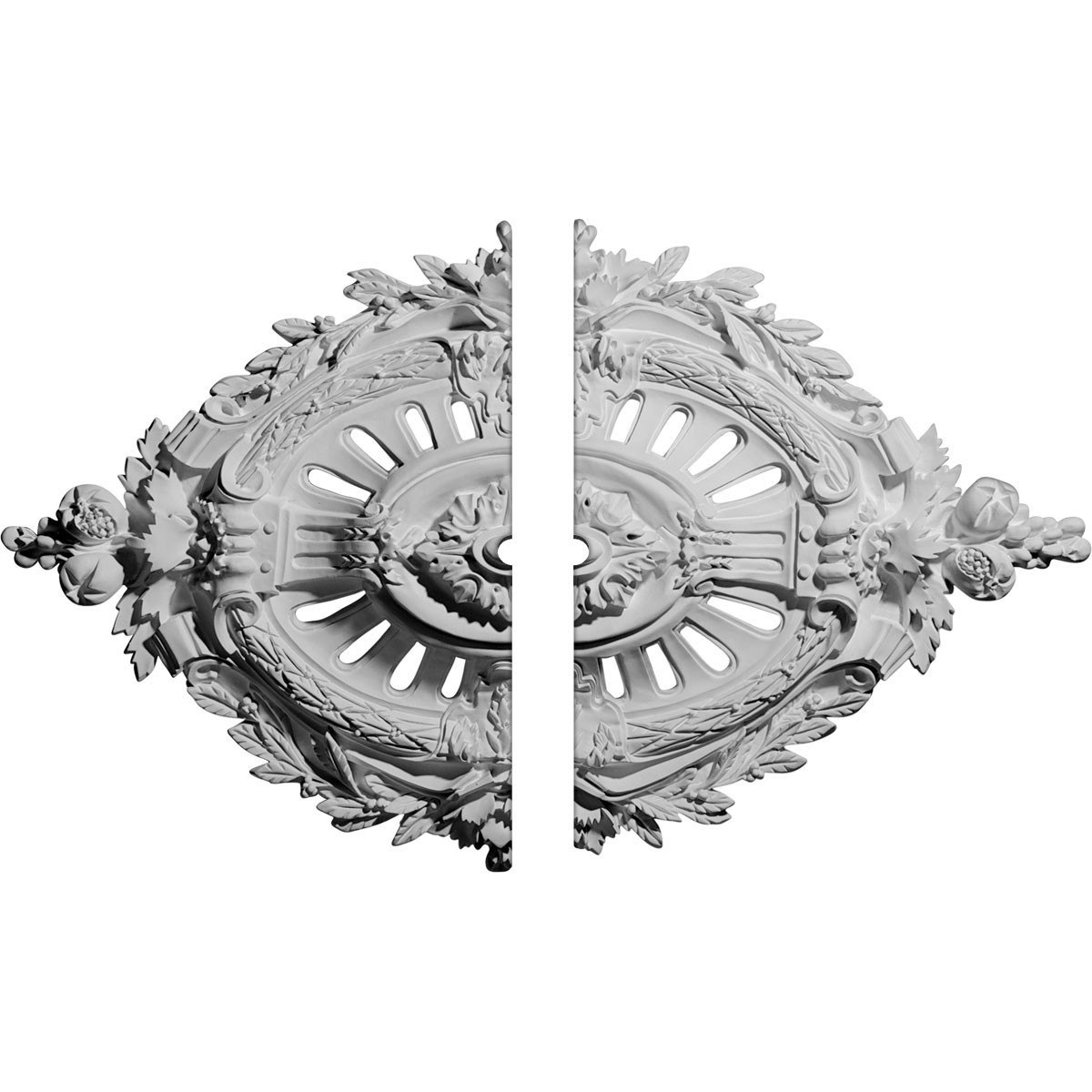 """EM-CM35X22AN2-01000 - 35 7/8""""W x 22 1/2""""H x 1""""ID x 4 3/8""""P Antonio Ceiling Medallion, Two Piece (Fits Canopies up to 1"""")"""