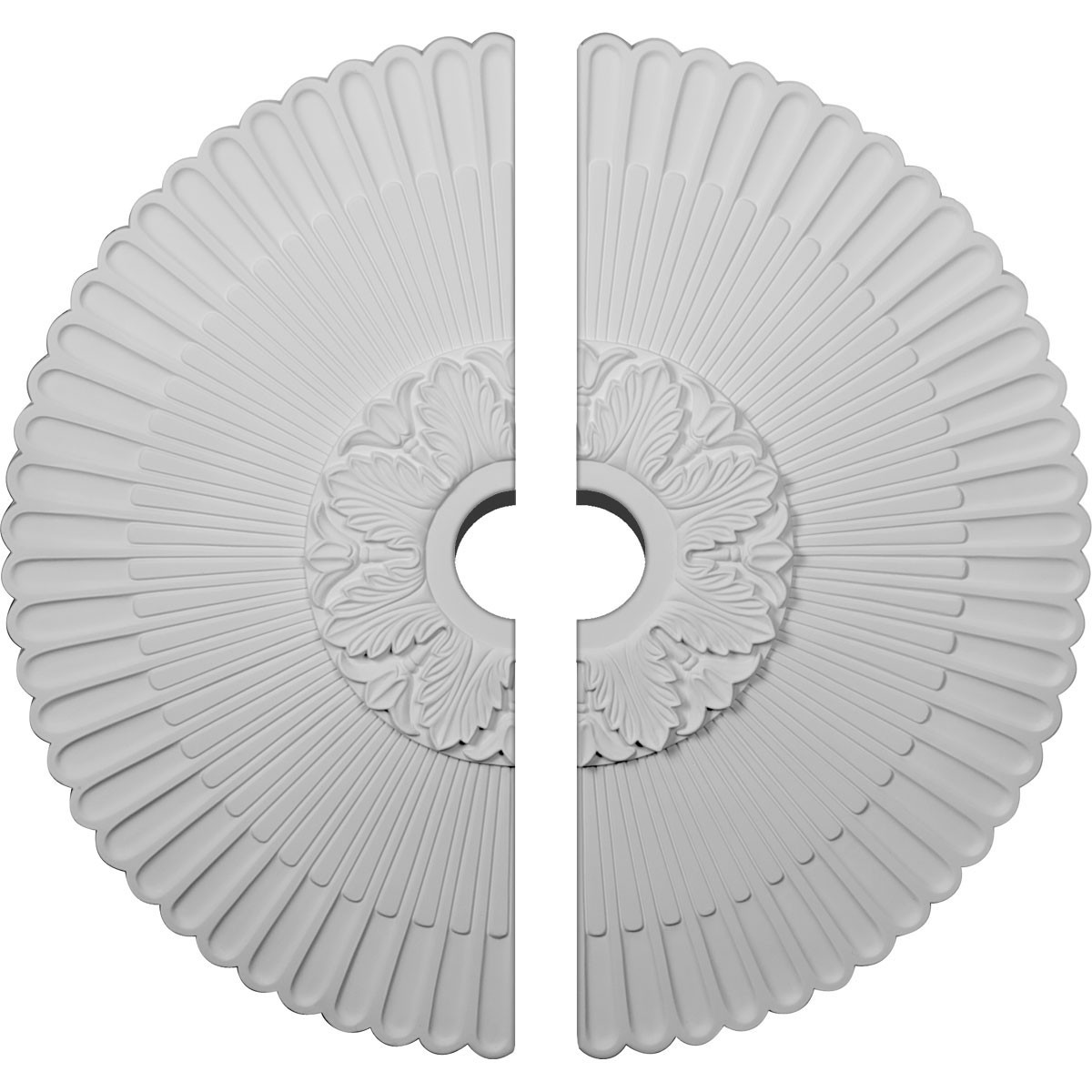 """EM-CM36ME2-04000 - 36 1/4""""OD x 4""""ID x 1 7/8""""P Melonie Ceiling Medallion, Two Piece (Fits Canopies up to 6 1/4"""")"""