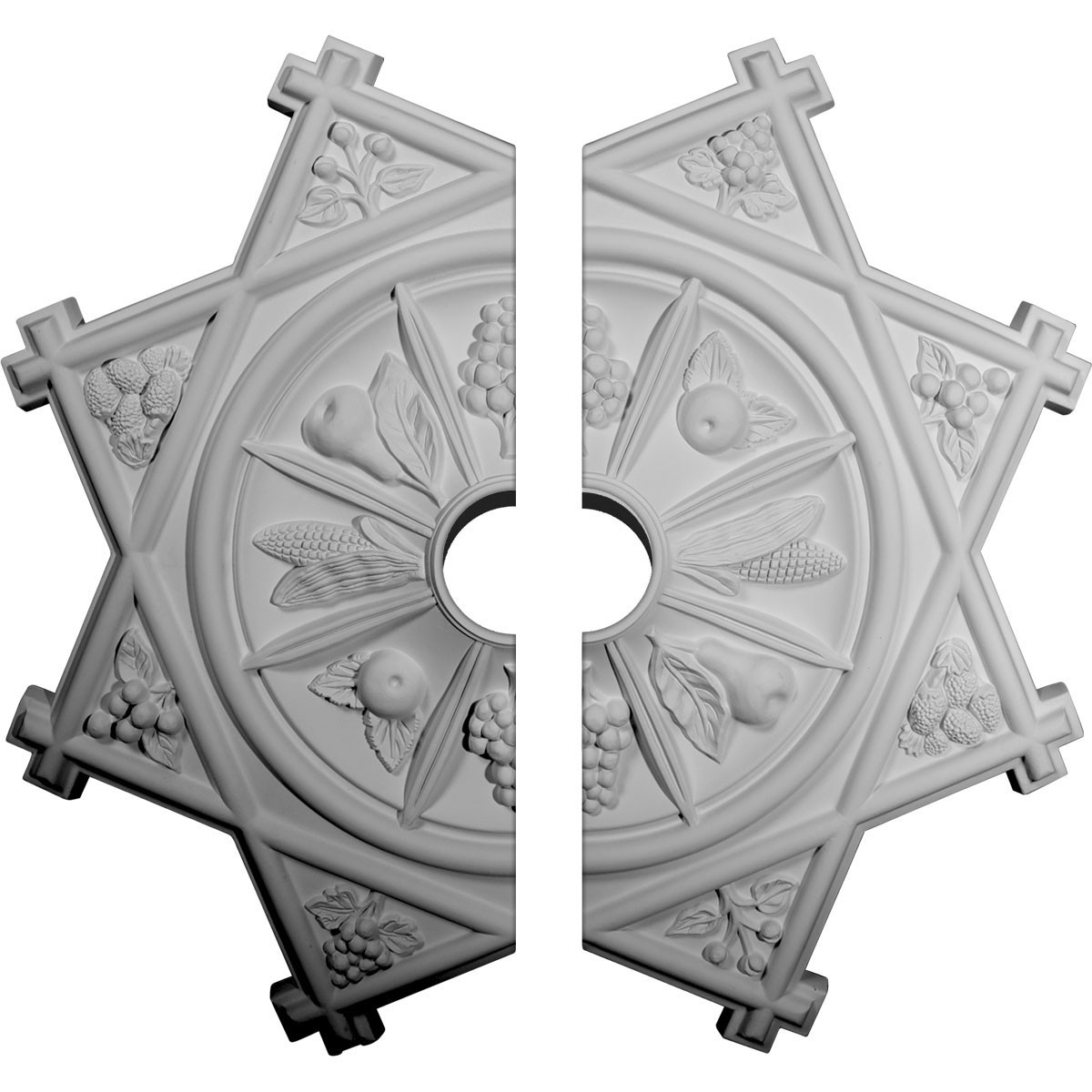 """EM-CM38AN2-06000 - 38 1/4""""OD x 6""""ID x 1 1/2""""P Antilles Ceiling Medallion, Two Piece (Fits Canopies up to 6"""")"""
