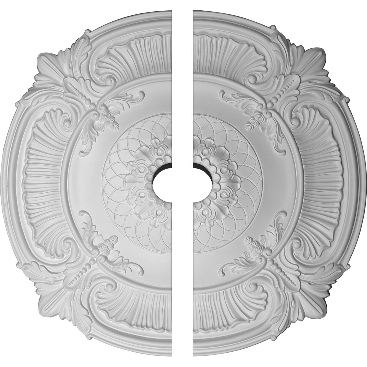 """EM-CM39AT2-05000 - 39 1/2""""OD x 3 3/4""""ID x 2 1/2""""P Attica Ceiling Medallion, Two Piece (Fits Canopies up to 3 3/4"""")"""