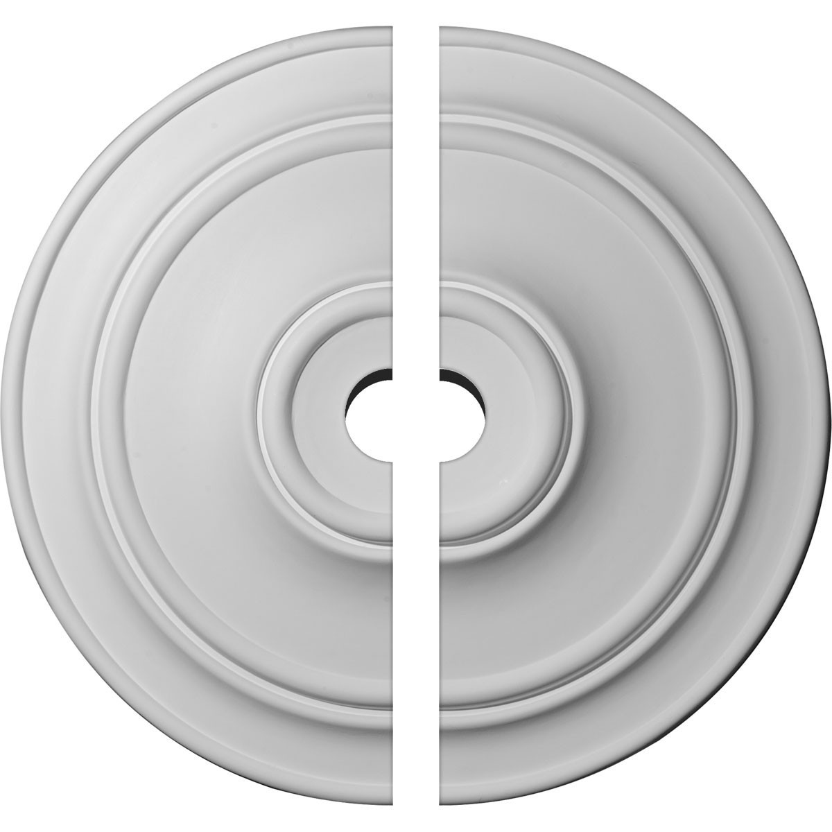"""EM-CM40CL2-05000 - 40 1/4""""OD x 5""""ID x 3 1/8""""P Small Classic Ceiling Medallion, Two Piece (Fits Canopies up to 10"""")"""