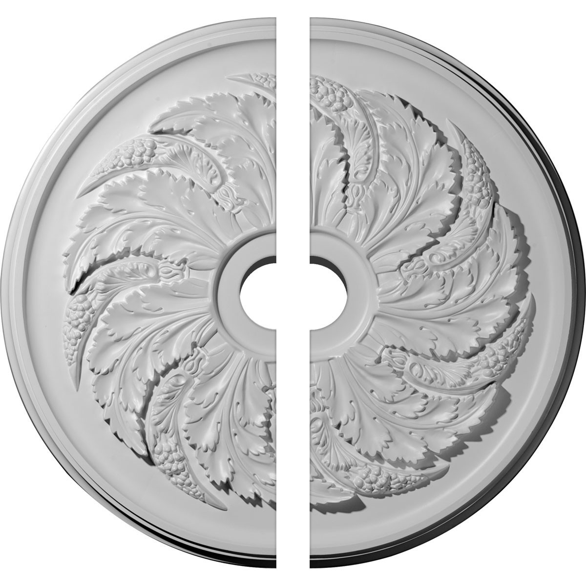 """EM-CM42SK2-06000 - 42 1/8""""OD x 6""""ID x 1 7/8""""P Sellek Ceiling Medallion, Two Piece (Fits Canopies up to 9"""")"""