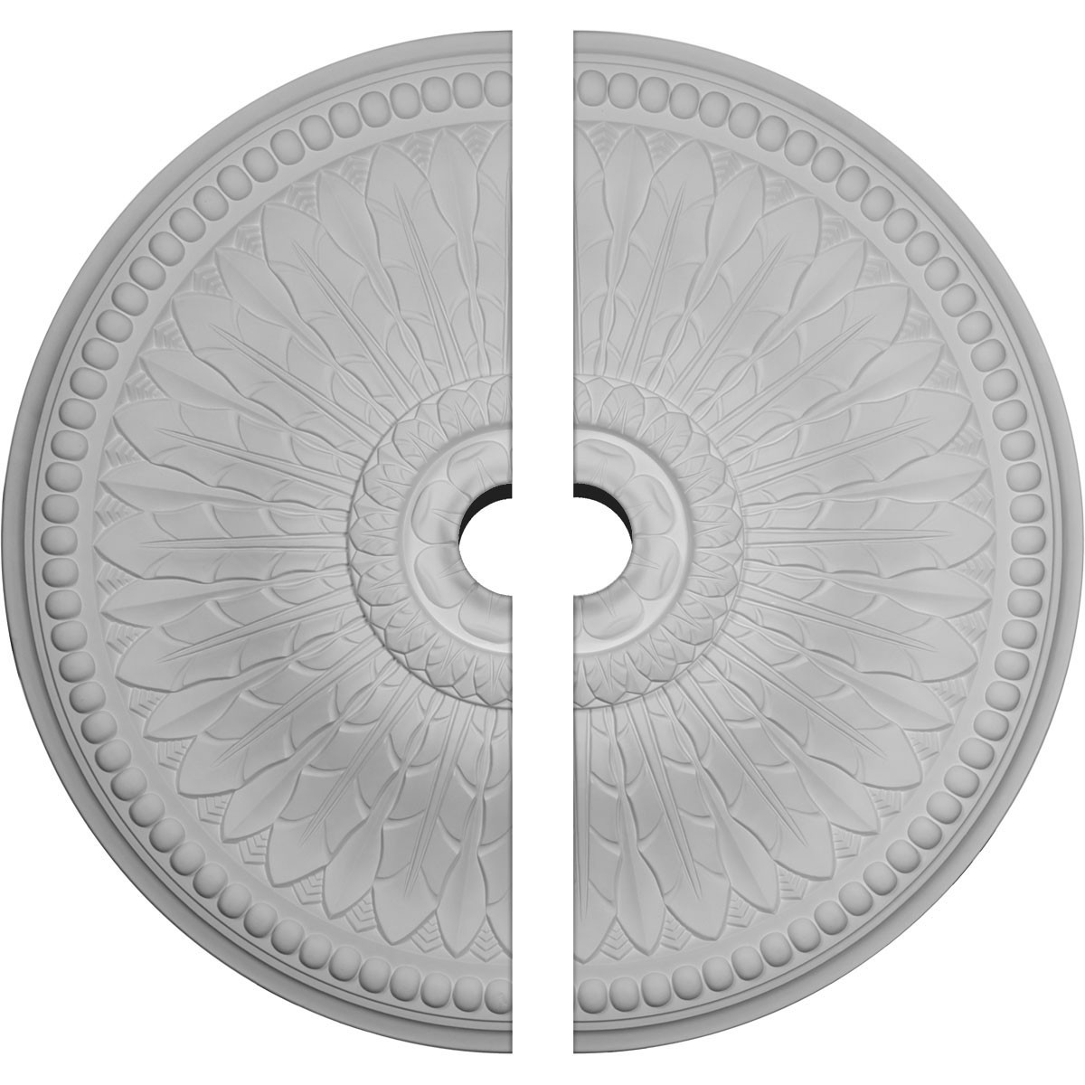 """EM-CM42SP2-04500 - 42 1/2""""OD x 4 1/2""""ID x 4 5/8""""P Springtime Ceiling Medallion, Two Piece (Fits Canopies up to 9 3/8"""")"""