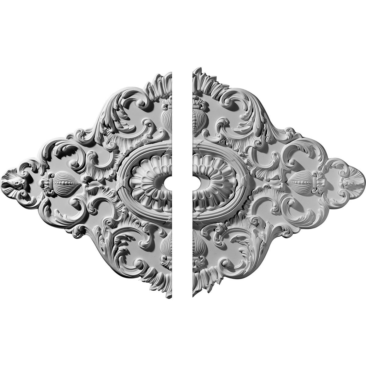 """EM-CM42X28AS2-03000 - 42 3/4""""W x 28 7/8""""H x 3""""ID x 1""""P Ashford Ceiling Medallion, Two Piece (Fits Canopies up to 3"""")"""