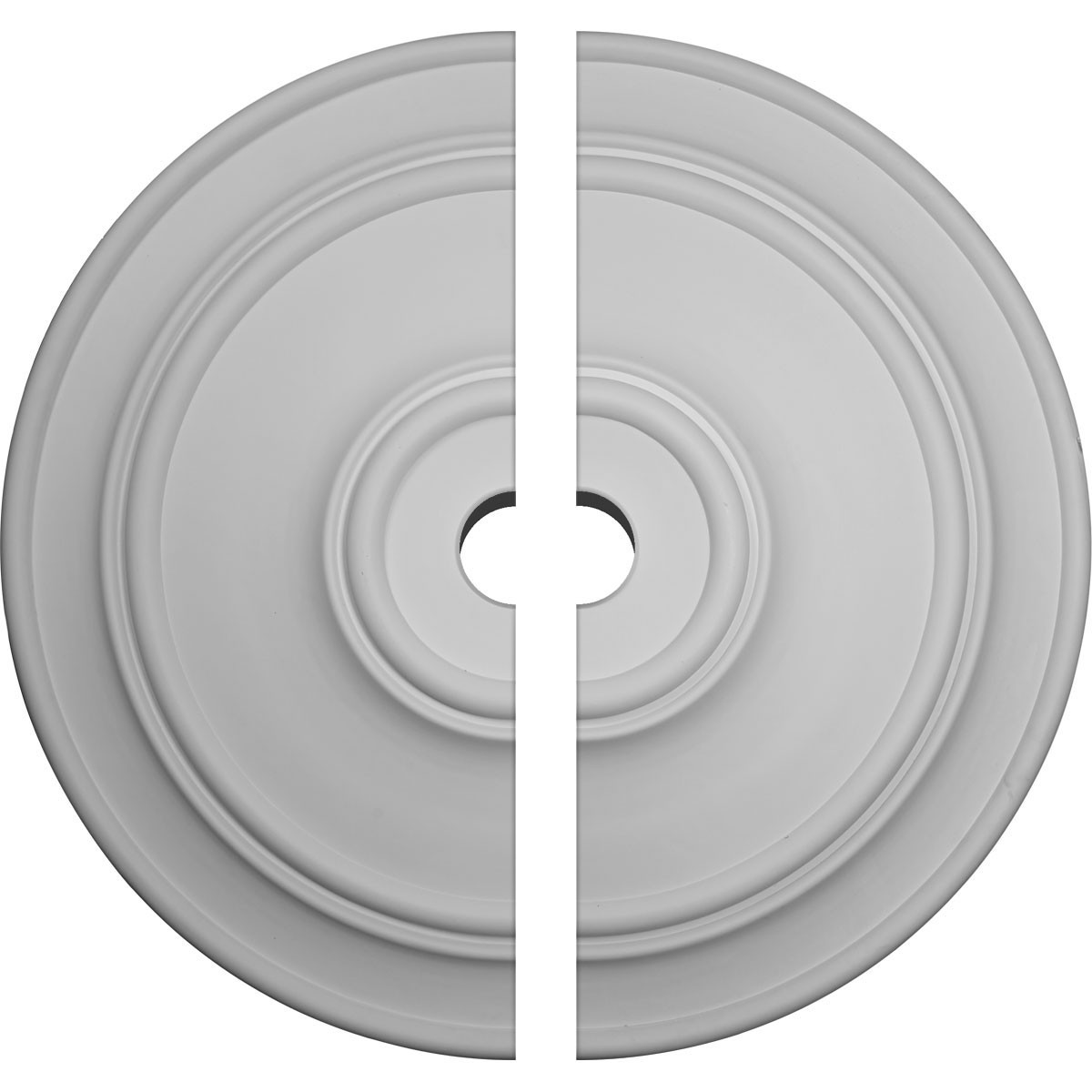 """EM-CM54TCL2-06000 - 54""""OD x 6""""ID x 4 7/8""""P Large Classic Ceiling Medallion, Two Piece (Fits Canopies up to 13 1/2"""")"""
