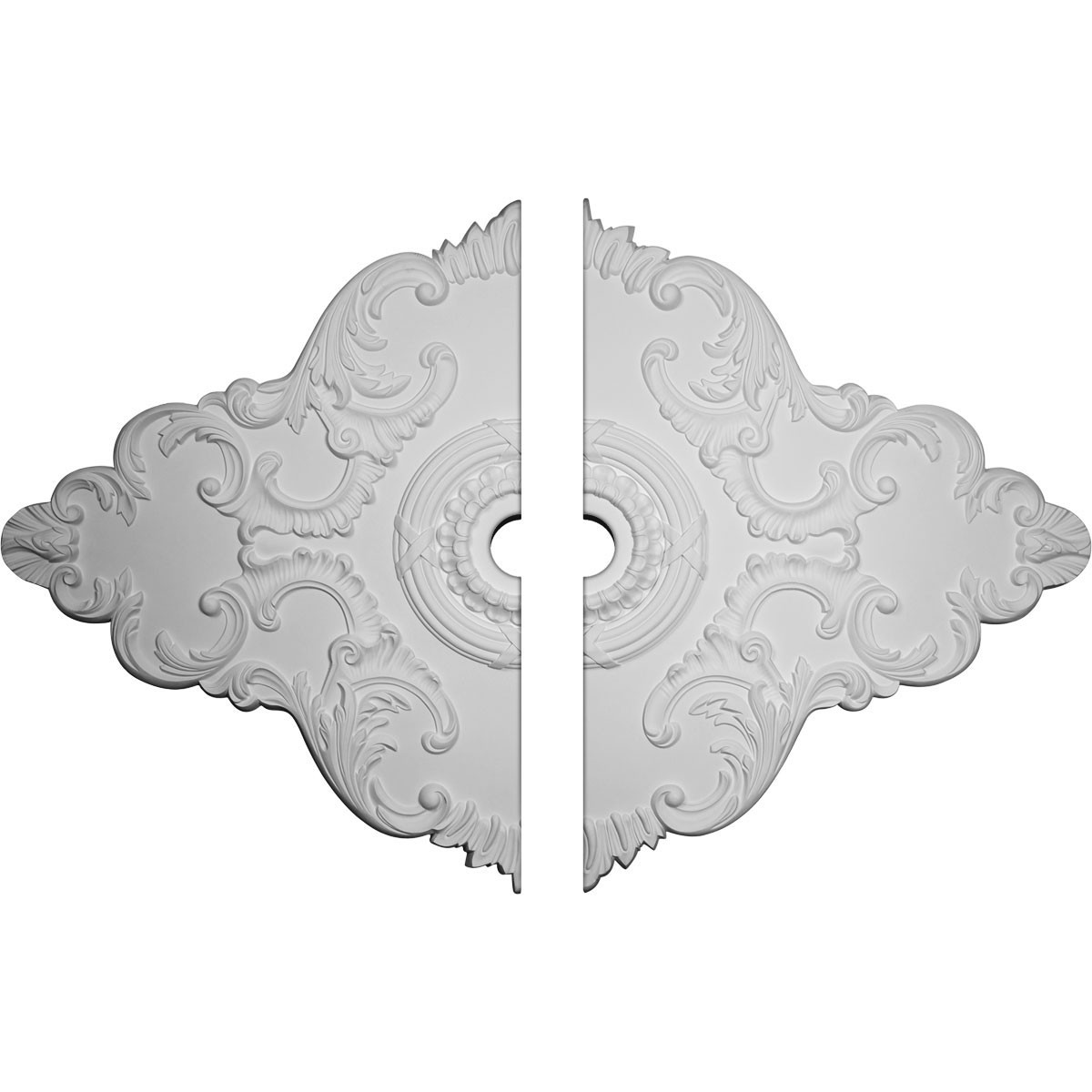 """EM-CM67PE2-06000 - 67 1/8""""W x 48 5/8""""H x 6""""ID x 1 7/8""""P Piedmont Ceiling Medallion, Two Piece (Fits Canopies up to 6 1/2"""")"""