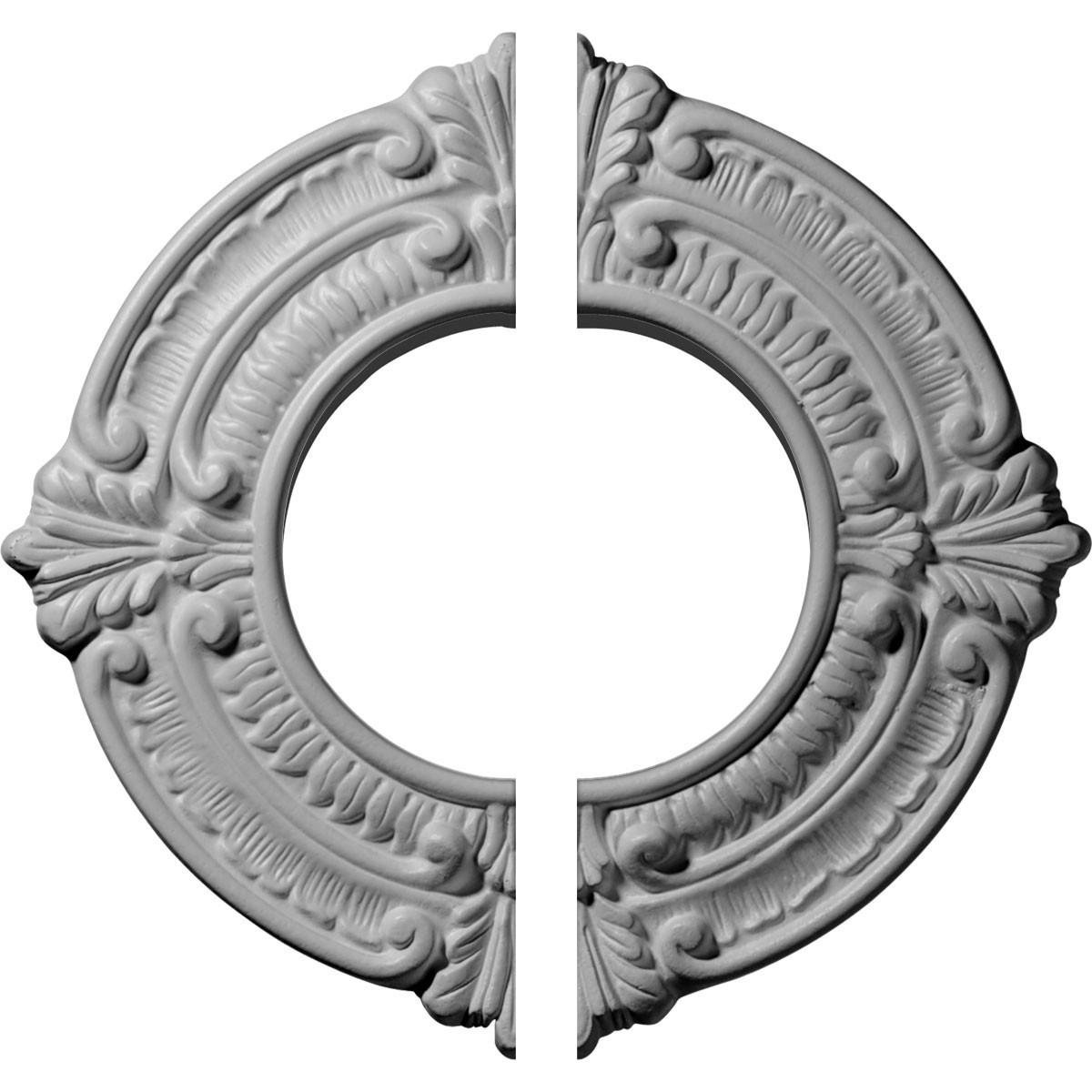 """EM-CM09BN2 - 9""""OD x 4 1/8""""ID x 5/8""""P Benson Ceiling Medallion, Two Piece (Fits Canopies up to 4 1/8"""")"""