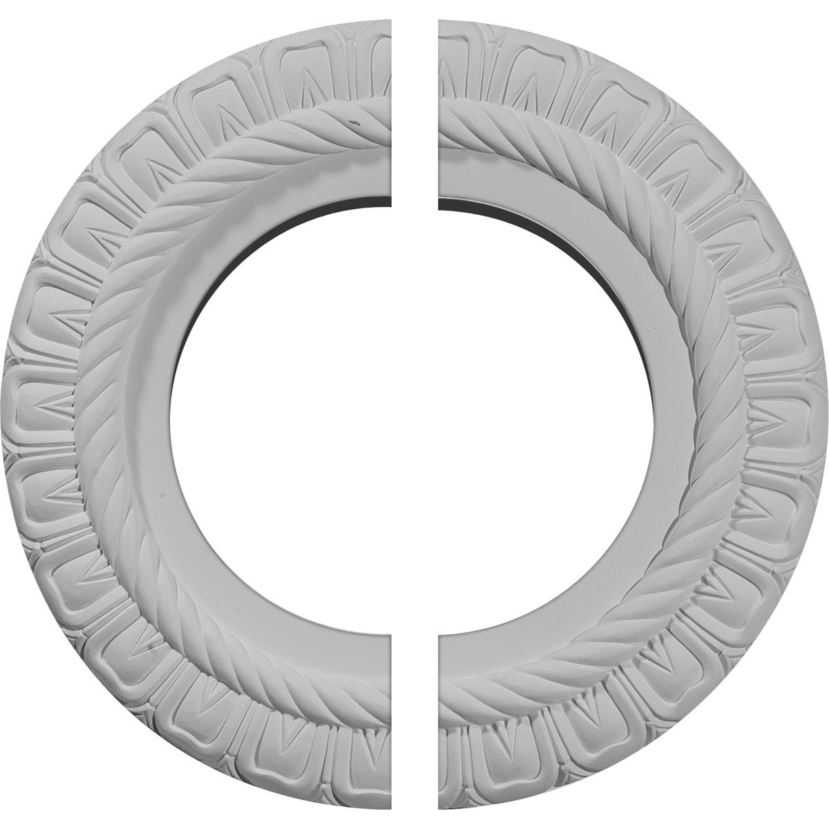 """EM-CM10CL2 - 10 5/8""""OD x 5 3/4""""ID x 1/2""""P Claremont Ceiling Medallion, Two Piece (Fits Canopies up to 7"""")"""