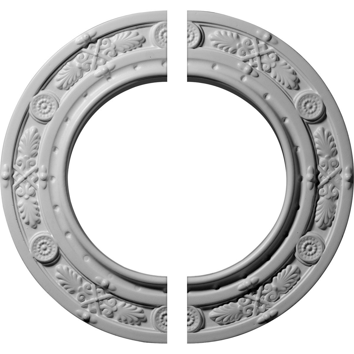"""EM-CM10DN2 - 10""""OD x 6 1/8""""ID x 1/2""""P Daniela Ceiling Medallion, Two Piece (Fits Canopies up to 6 1/8"""")"""