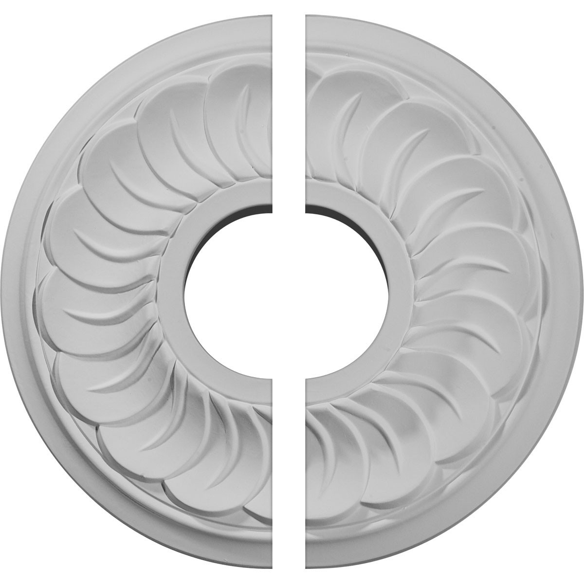 """EM-CM11BL2 - 11 3/4""""OD x 3 5/8""""ID x 1""""P Blackthorne Ceiling Medallion, Two Piece (Fits Canopies up to 4 7/8"""")"""