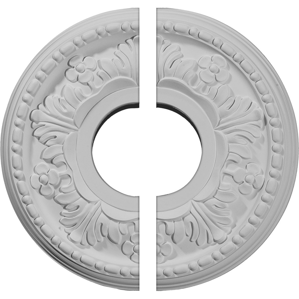 """EM-CM11HE2 - 11 7/8""""OD x 3 5/8""""ID x 7/8""""P Helene Ceiling Medallion, Two Piece (Fits Canopies up to 5 1/4"""")"""