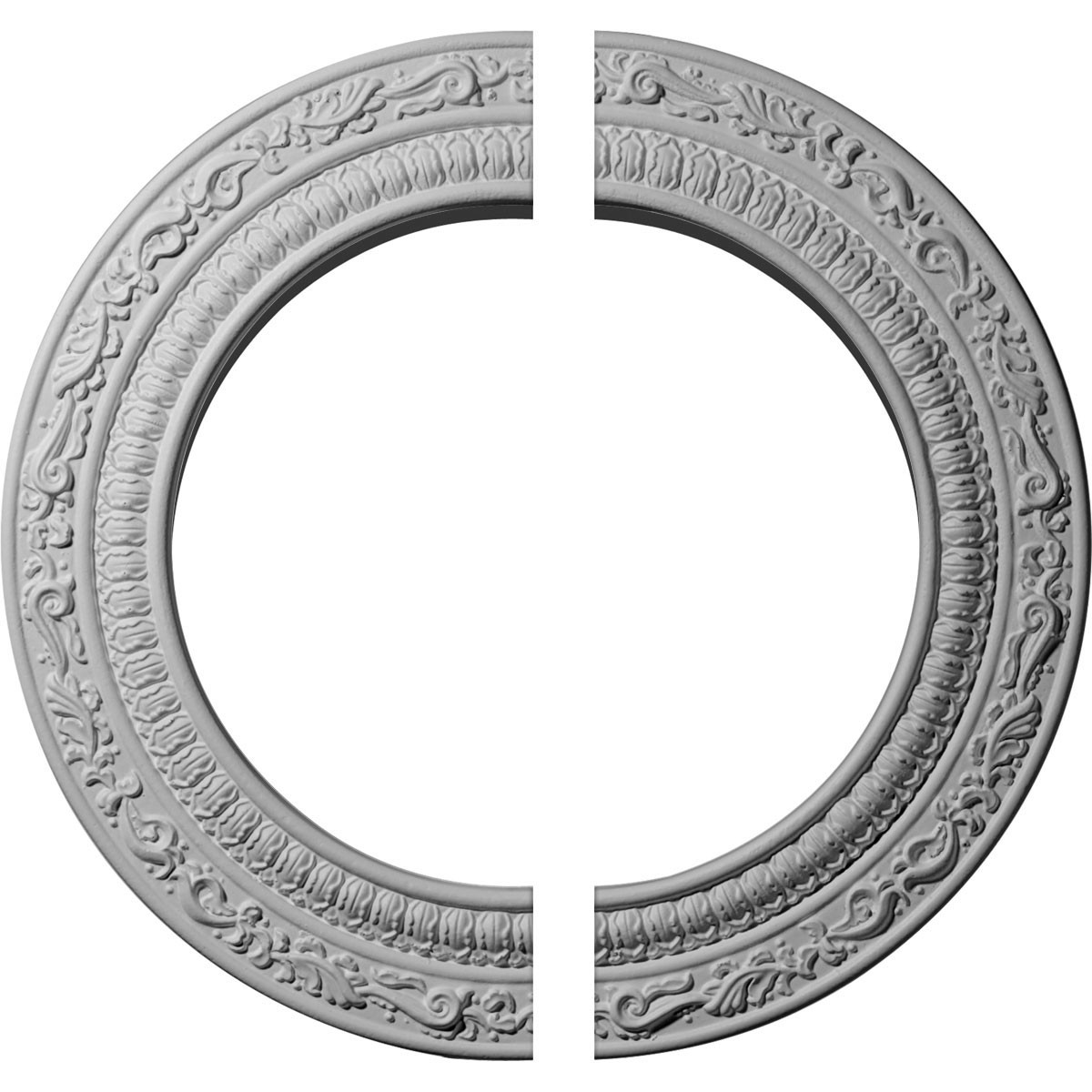 """EM-CM12AD2 - 12""""OD x 8""""ID x 1/2""""P Andrea Ceiling Medallion, Two Piece (Fits Canopies up to 8"""")"""