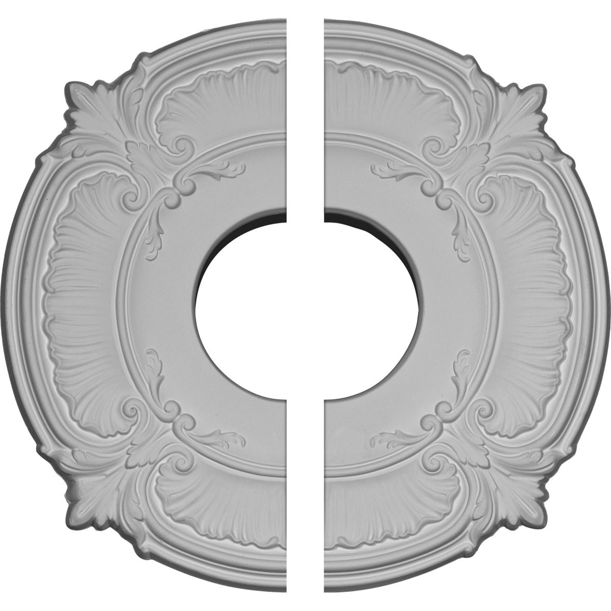 """EM-CM12AT2 - 12 3/4""""OD x 3 1/2""""ID x 1/2""""P Attica Ceiling Medallion, Two Piece (Fits Canopies up to 3 1/2"""")"""