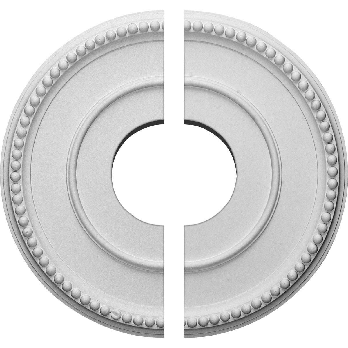 """EM-CM12BR2 - 12 1/2""""OD x 3 7/8""""ID x 3/4""""P Bradford Ceiling Medallion, Two Piece (Fits Canopies up to 6 5/8"""")"""