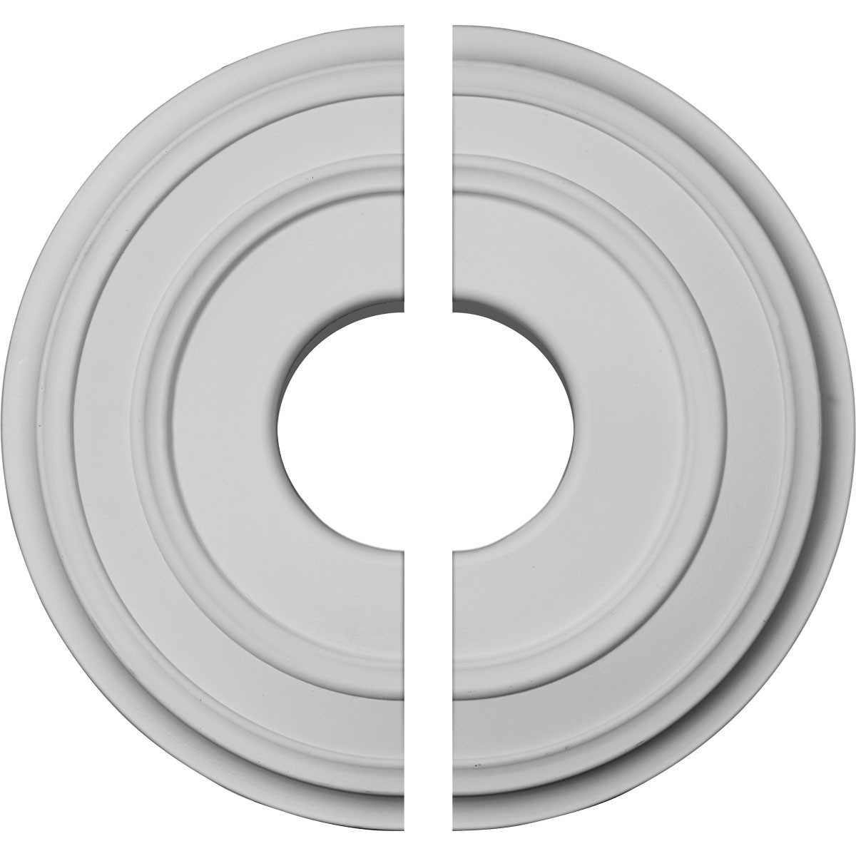 """EM-CM12CL2 - 12 3/8""""OD x 4""""ID x 1 1/8""""P Classic Ceiling Medallion, Two Piece (Fits Canopies up to 7 1/4"""")"""