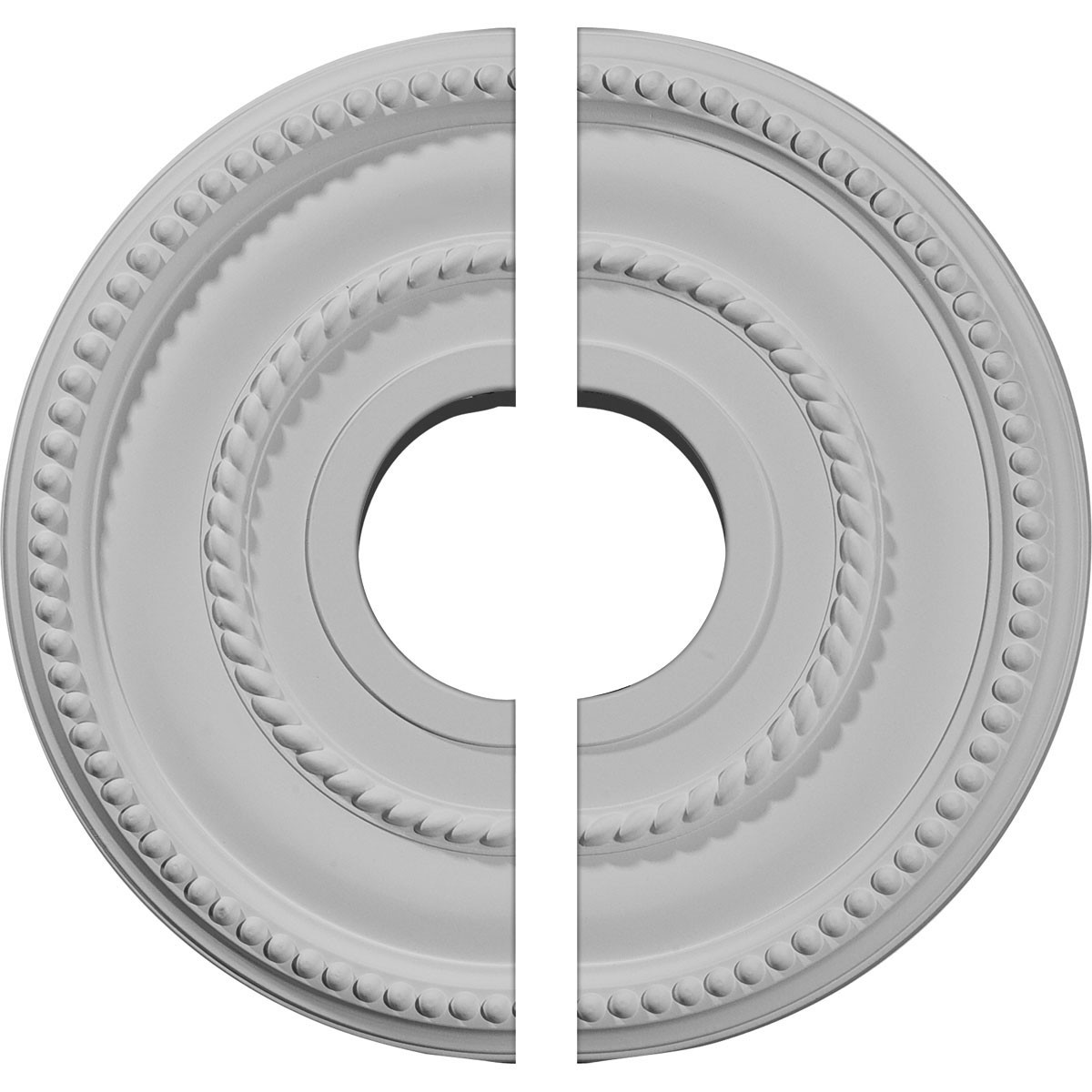 "EM-CM12VA2 - 12 1/8""OD x 3 5/8""ID x 3/4""P Valeriano Ceiling Medallion, Two Piece (Fits Canopies up to 6 1/4"")"