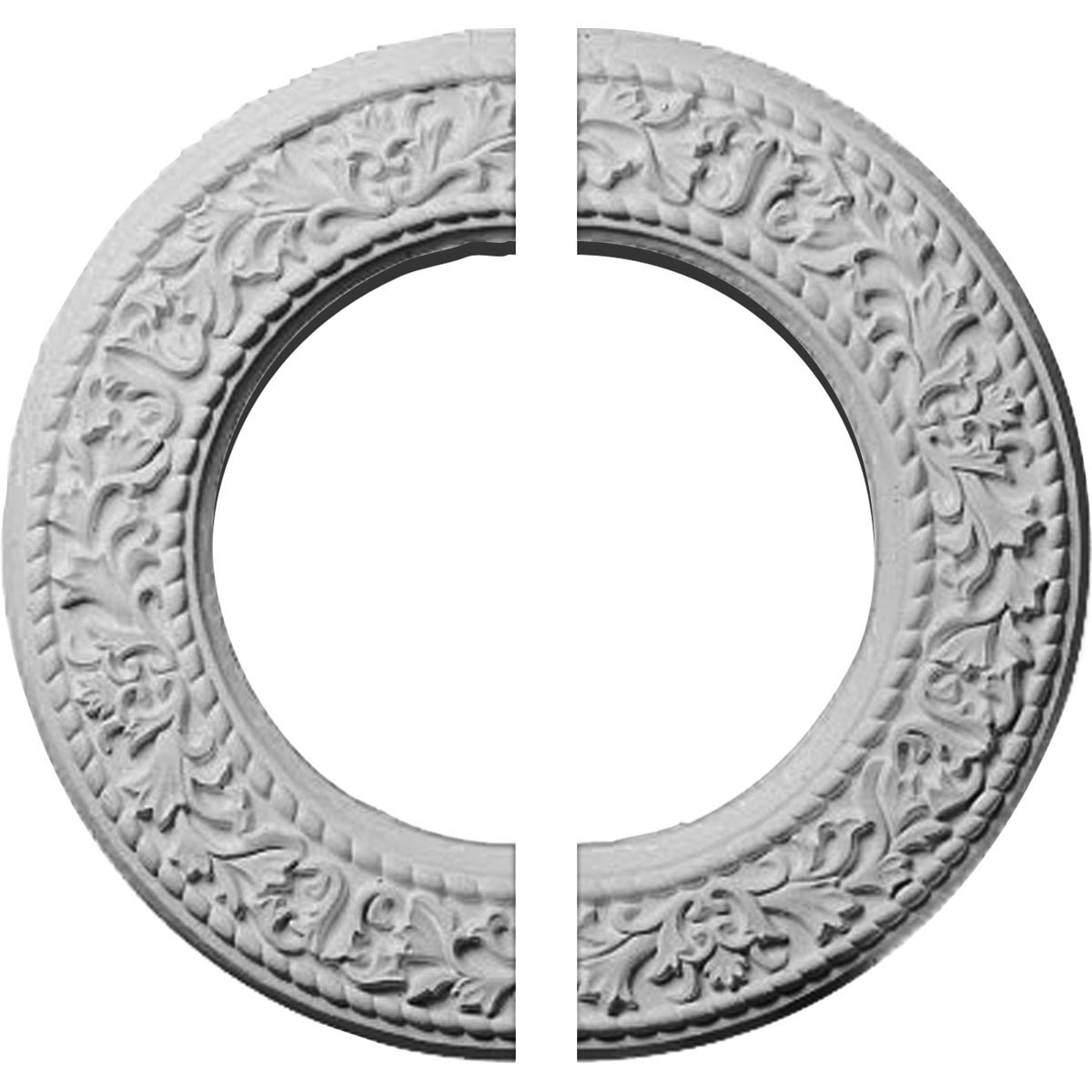 "EM-CM13BL2 - 13 3/8""OD x 7 1/2""ID x 3/4""P Blackthorn Ceiling Medallion, Two Piece (Fits Canopies up to 7 1/2"")"