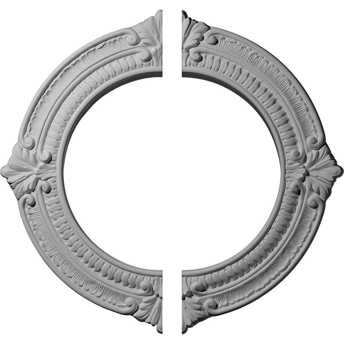 "EM-CM13BN2 - 13 1/8""OD x 8""ID x 5/8""P Benson Ceiling Medallion, Two Piece (Fits Canopies up to 8"")"