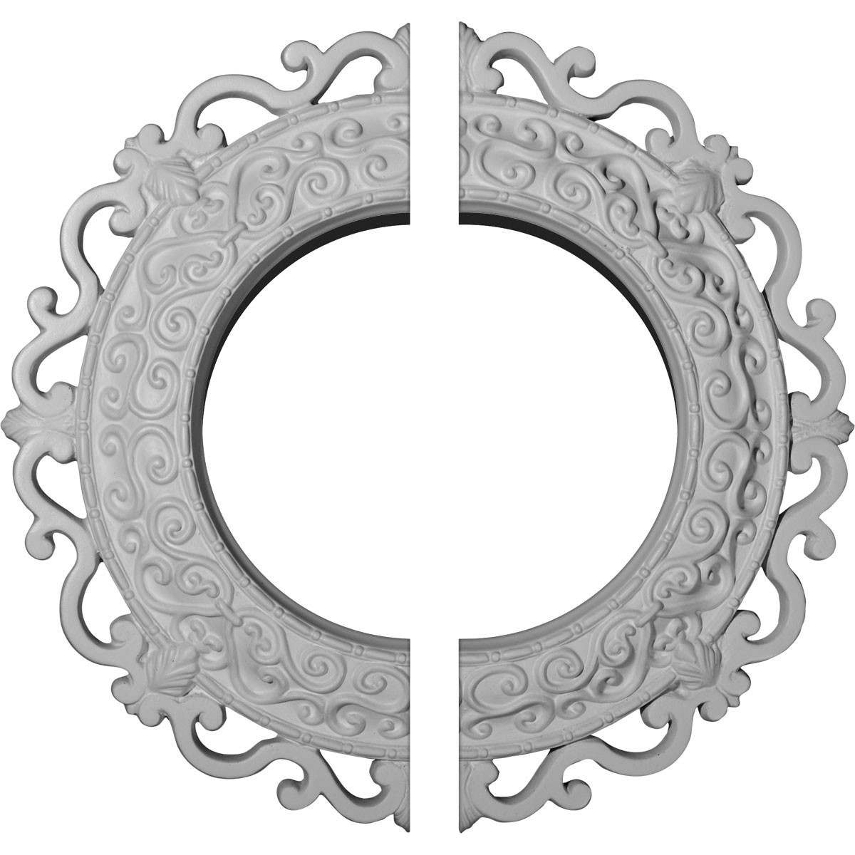 """EM-CM13OR2 - 13 1/4""""OD x 6 5/8""""ID x 1 1/8""""P Orrington Ceiling Medallion, Two Piece (Fits Canopies up to 6 5/8"""")"""