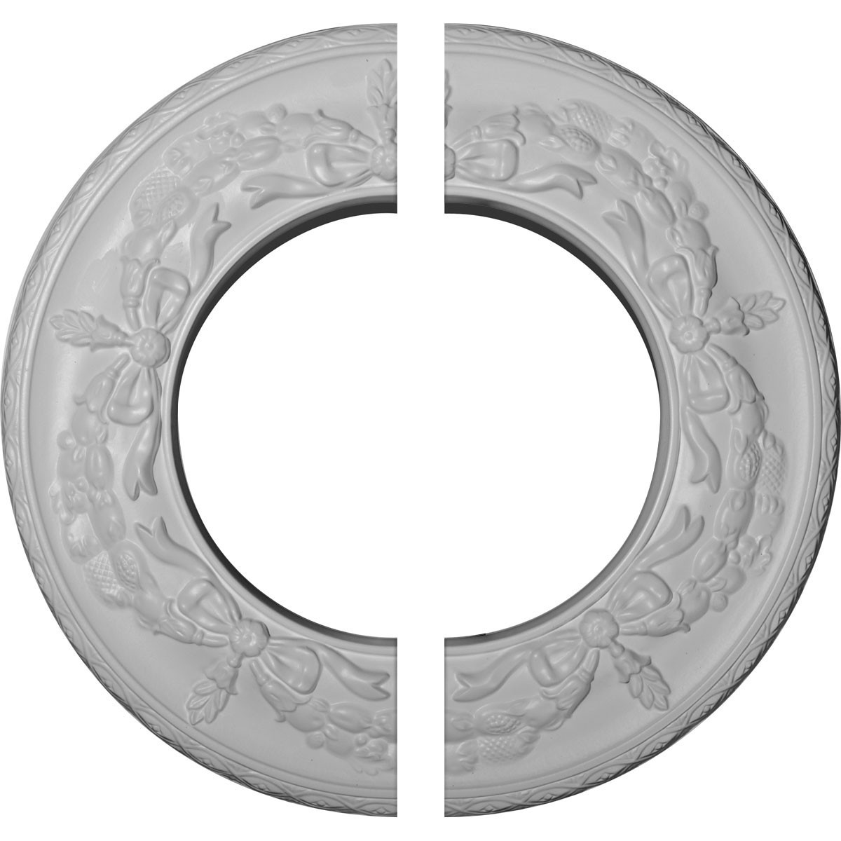 """EM-CM13SA2 - 13 1/4""""OD x 7 1/8""""ID x 7/8""""P Salem Ceiling Medallion, Two Piece (Fits Canopies up to 7 1/8"""")"""