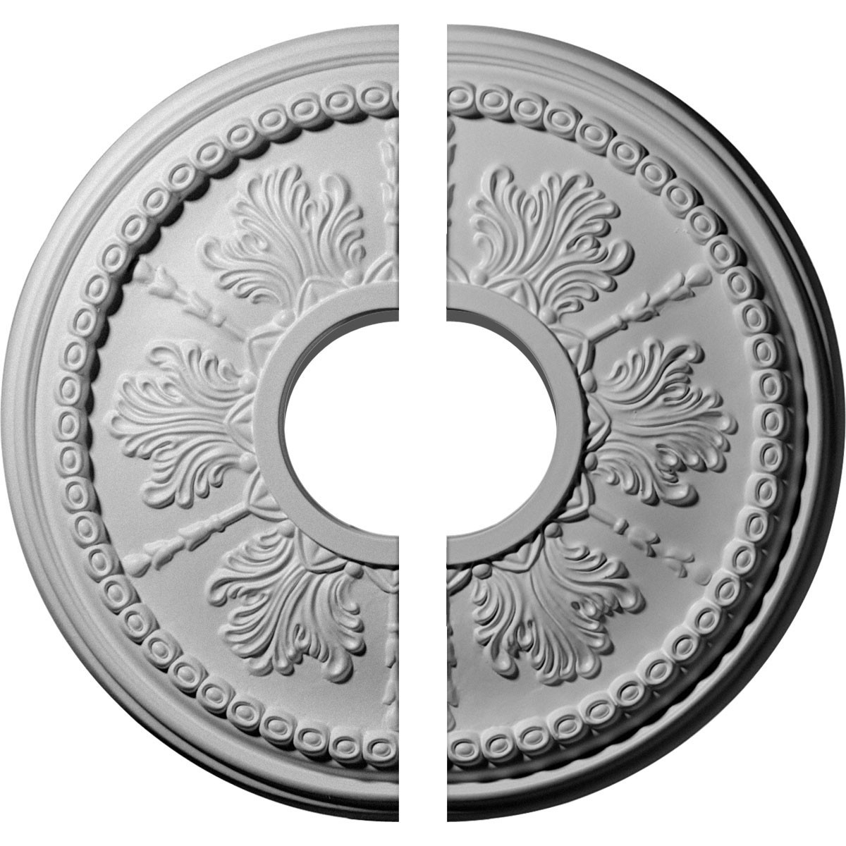 "EM-CM13TI2 - 13 7/8""OD x 3 3/4""ID x 1 1/4""P Tirana Ceiling Medallion, Two Piece (Fits Canopies up to 4 3/4"")"