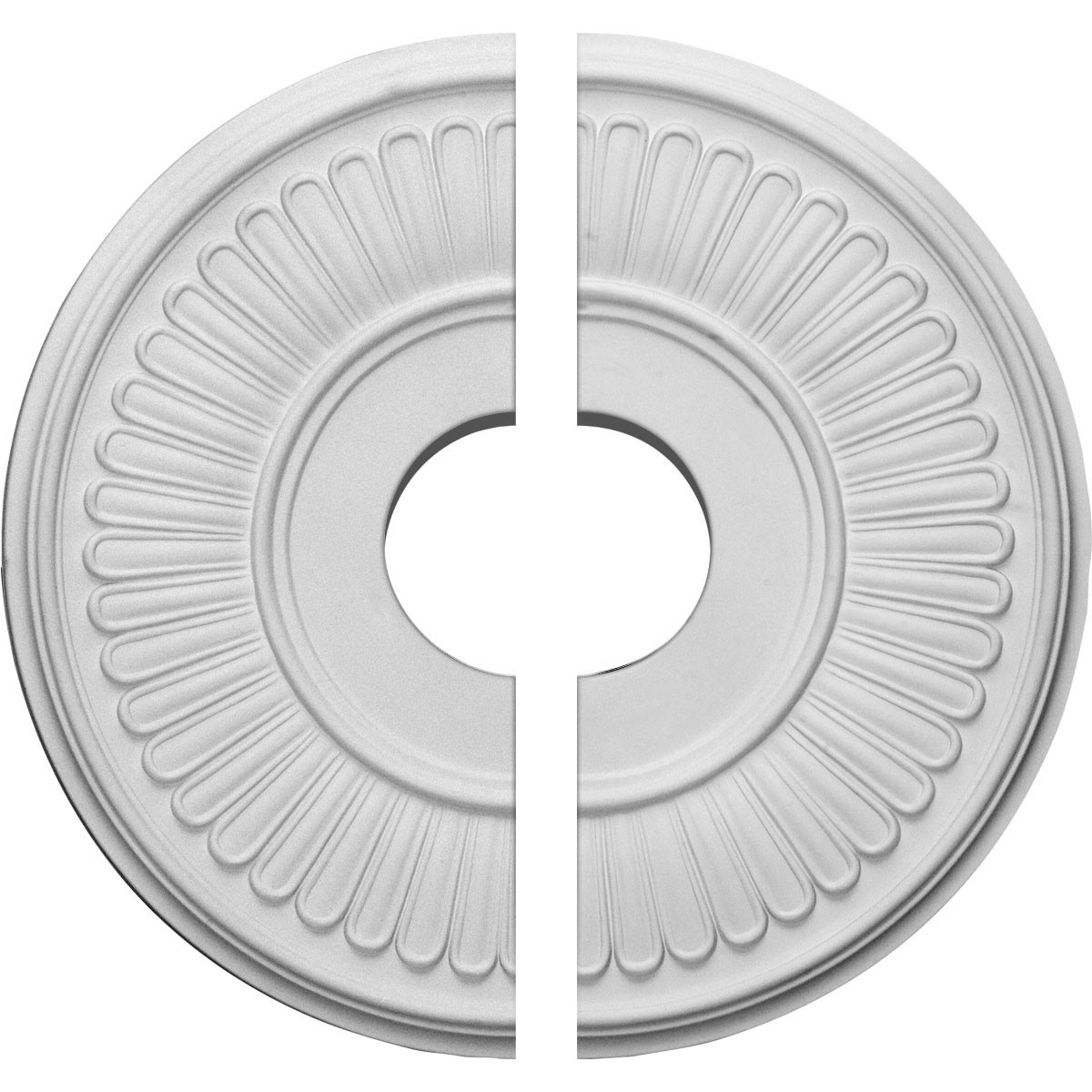 """EM-CM15BE2 - 15 3/4""""OD x 3 7/8""""ID x 3/4""""P Berkshire Ceiling Medallion, Two Piece (Fits Canopies up to 7"""")"""